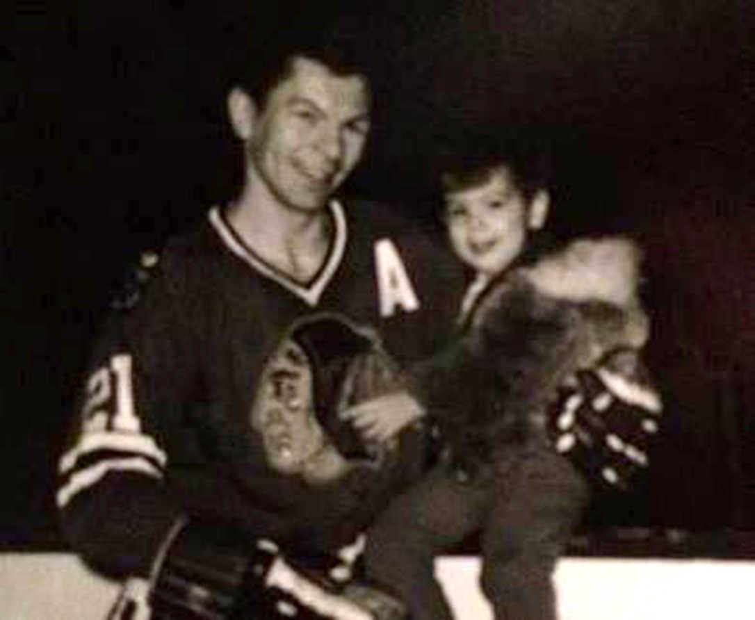 Stan Mikita with his son Scott, late 1960s