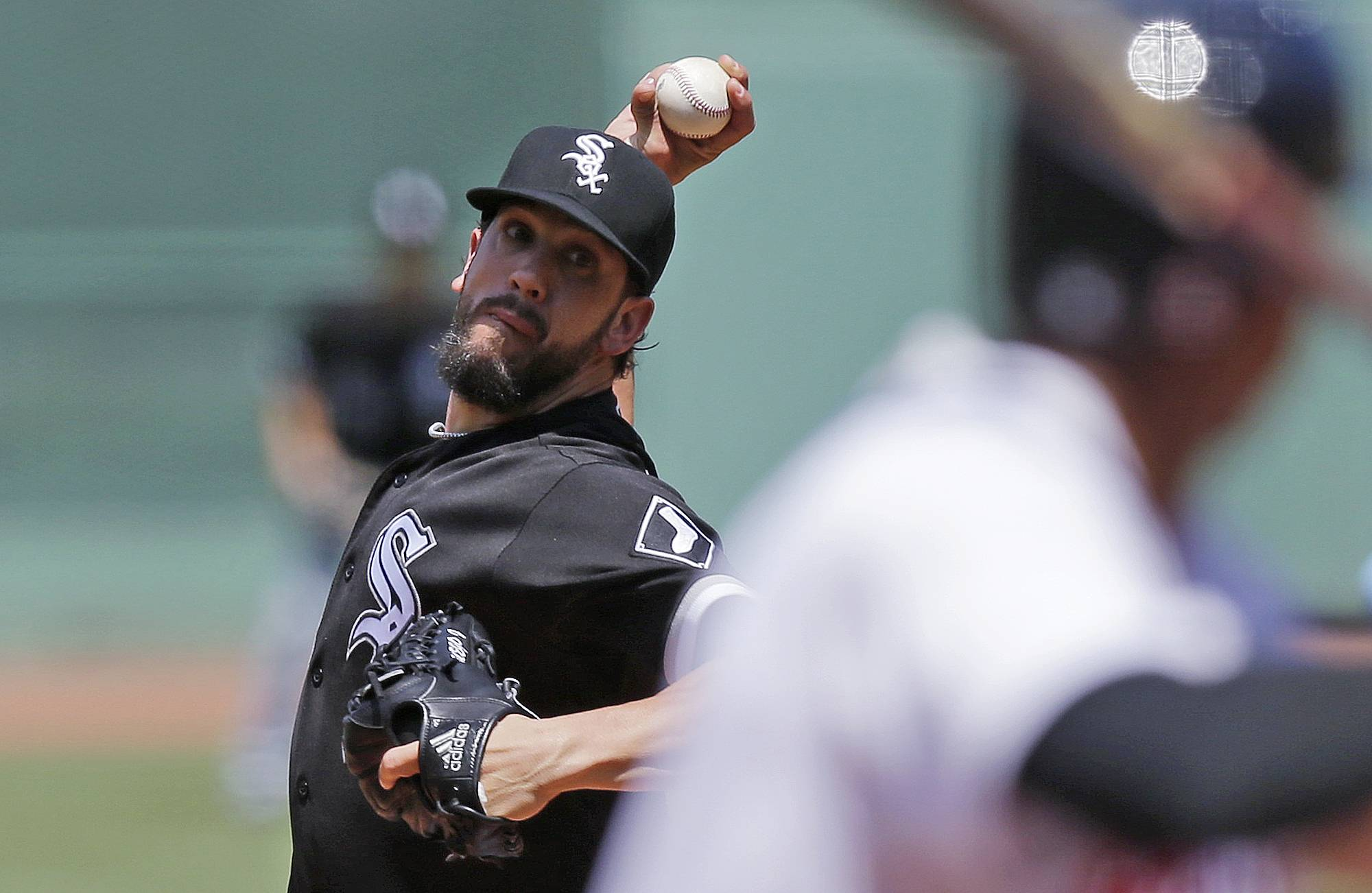 Chicago White Sox starting pitcher James Shields delivers during the first inning of a baseball game against the Boston Red Sox at Fenway Park, Thursday, June 23, 2016, in Boston. (AP Photo/Charles Krupa)