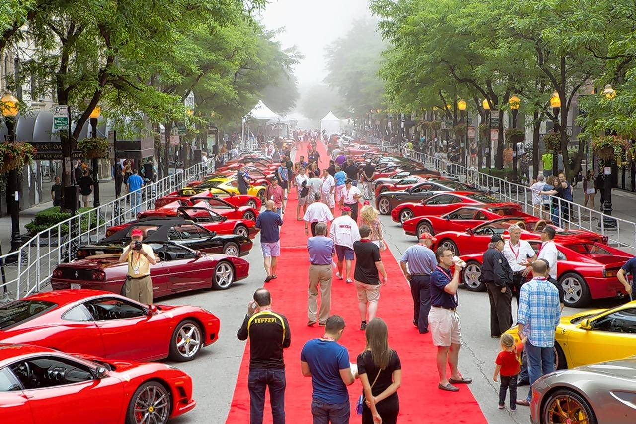 Midwest travel: Zoom in to Ferraris on Oak in Chicago