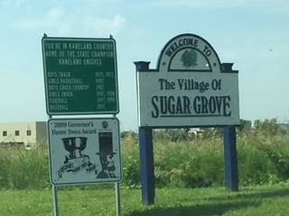 The village of Sugar Grove is located just west of Aurora and south of Elburn.