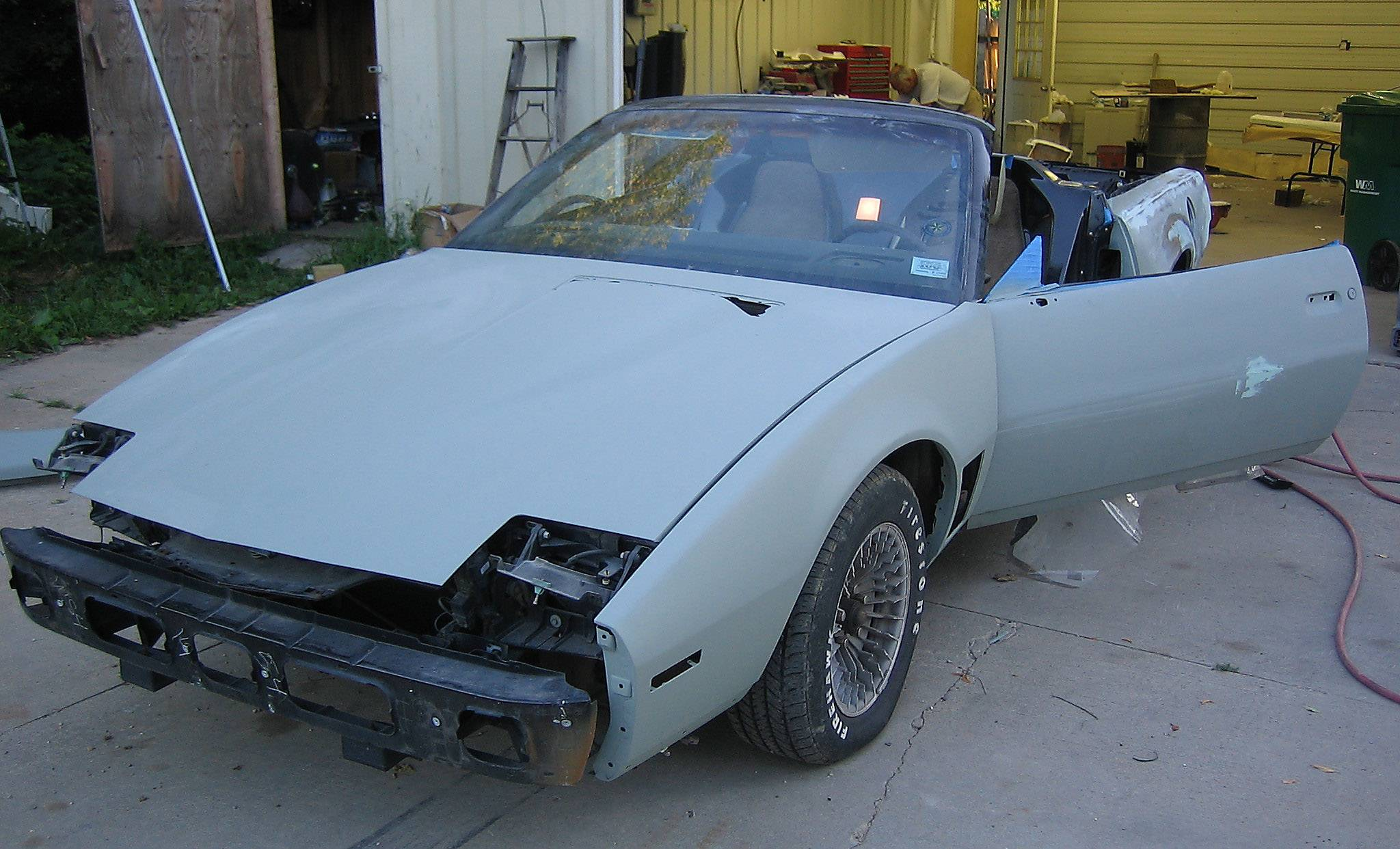 "Eric Wang's 1983 Pontiac Firebird Trans Am is shown in the early stages of being rebuilt into a KITT car, like the one from ""Knight Rider."""