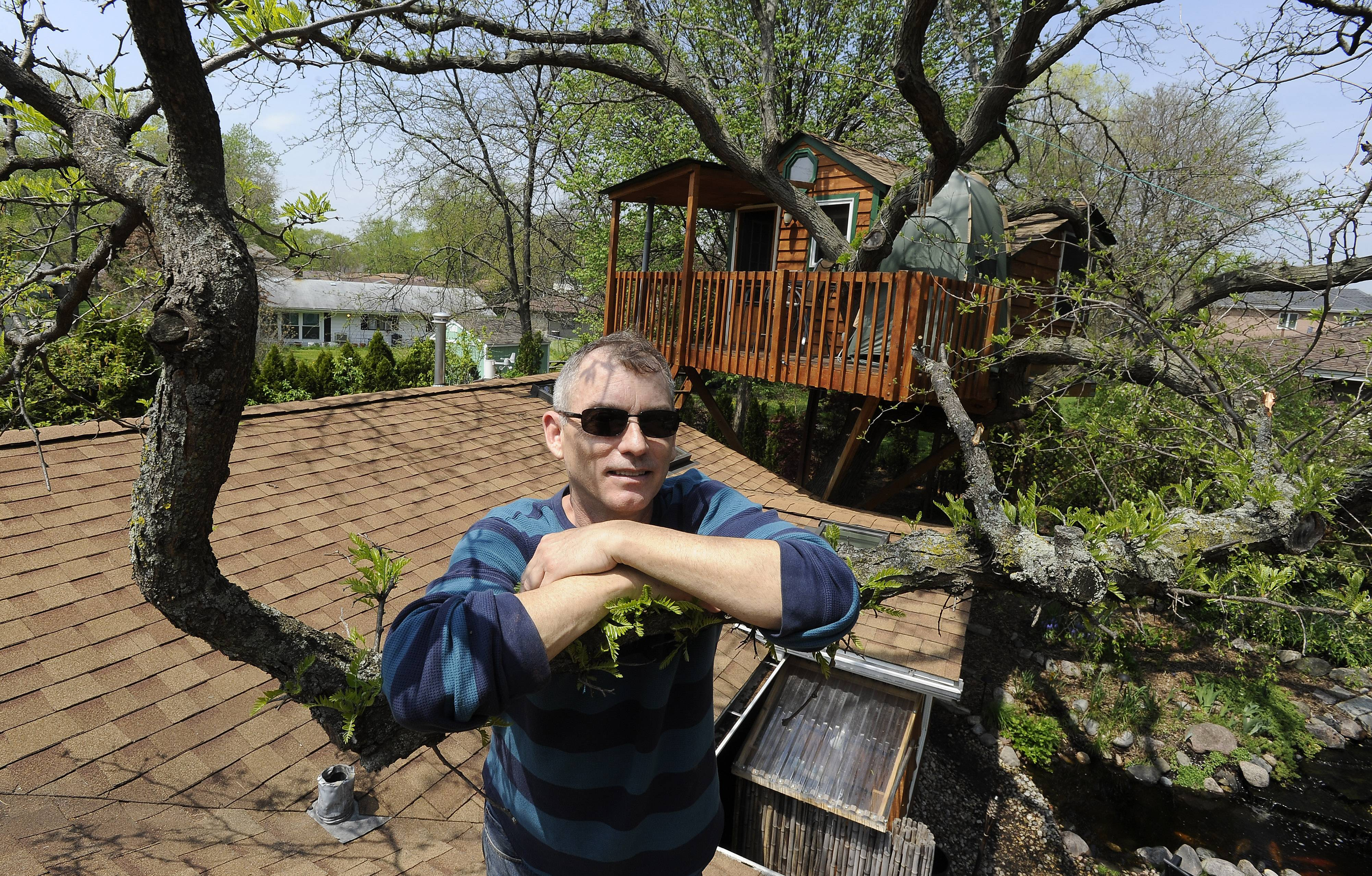 Dan Alexander's luxury treehouse in Schaumburg has increased in popularity among Airbnb.com renters over the past year. He said he has no problem with an 8 percent hotel tax the Schaumburg officials plan to impose on his overnight guests.