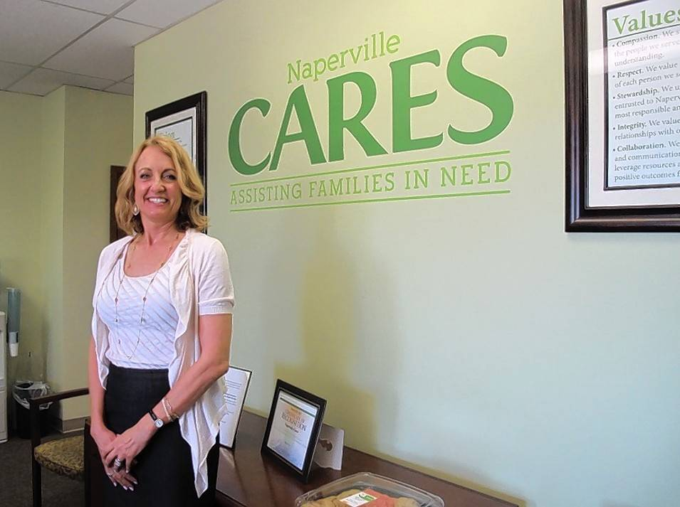Naperville CARES, led by Janet Derrick, is merging with Loaves & Fishes Community Services effective July 1. The combined organization will focus on providing food, cars and emergency financial help to people in need.
