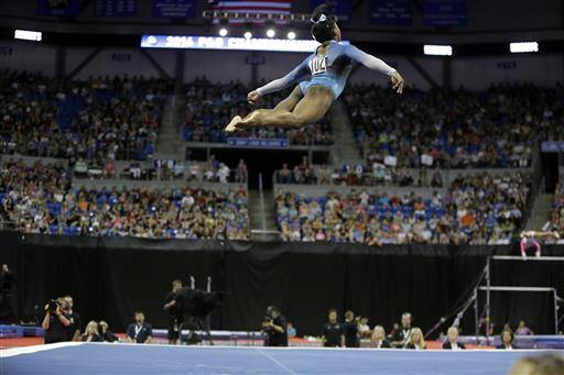 Simone Biles glides to 4th straight US gymnastics title