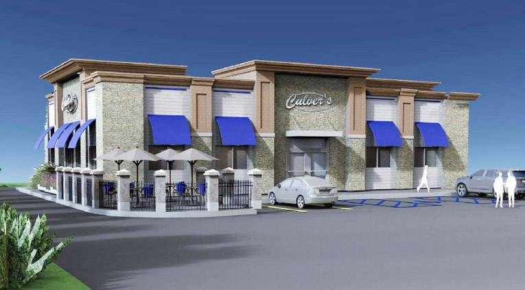 Rendering of a proposed Culver's restaurant in Lincolnshire.