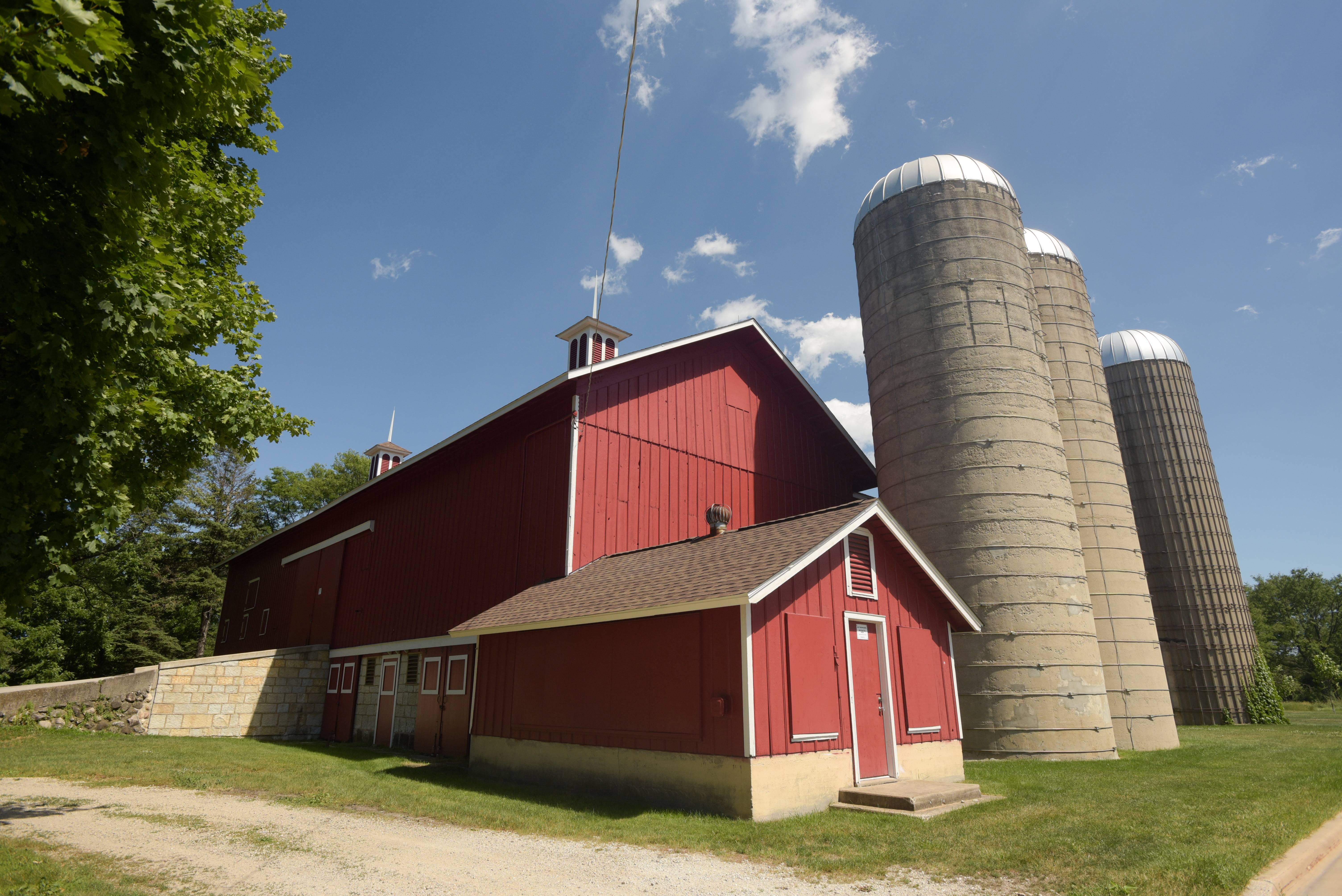 The Greene Farm Barn in Greene Valley Forest Preserve near Naperville is one of two historic buildings the DuPage County Forest Preserve District wants to repair. A formal vote by commissioners is expected to happen next week.