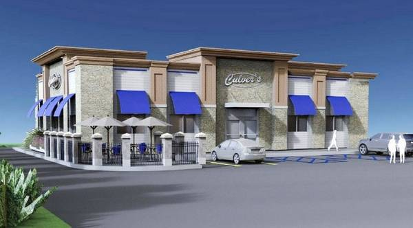 Rendering Of A Proposed Culver S Restaurant In Lincolnshire