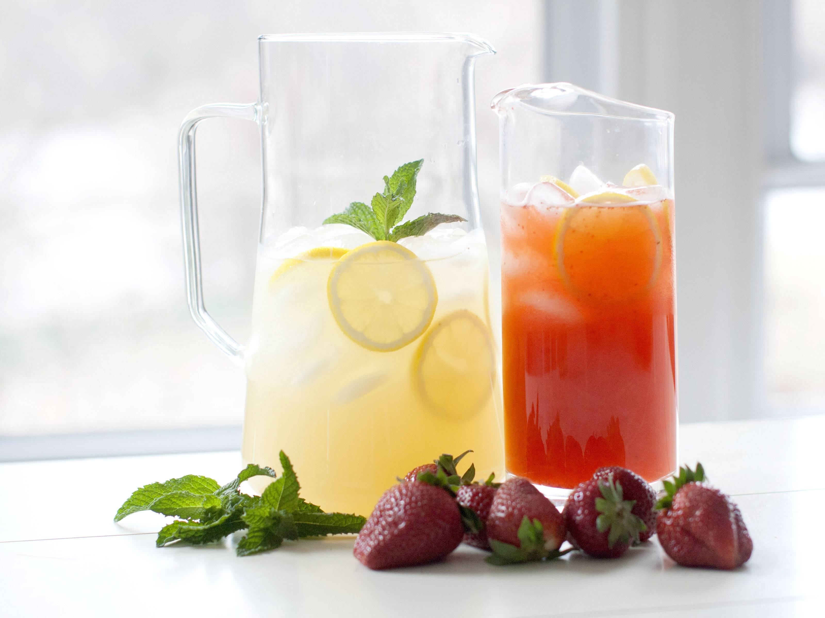 If you're looking for a naturally low-calorie alternative to regular soda, try adding a few splashes of lemon or other juice to plain club soda or seltzer instead of regular lemonade. It can have as much sugar as the soda.