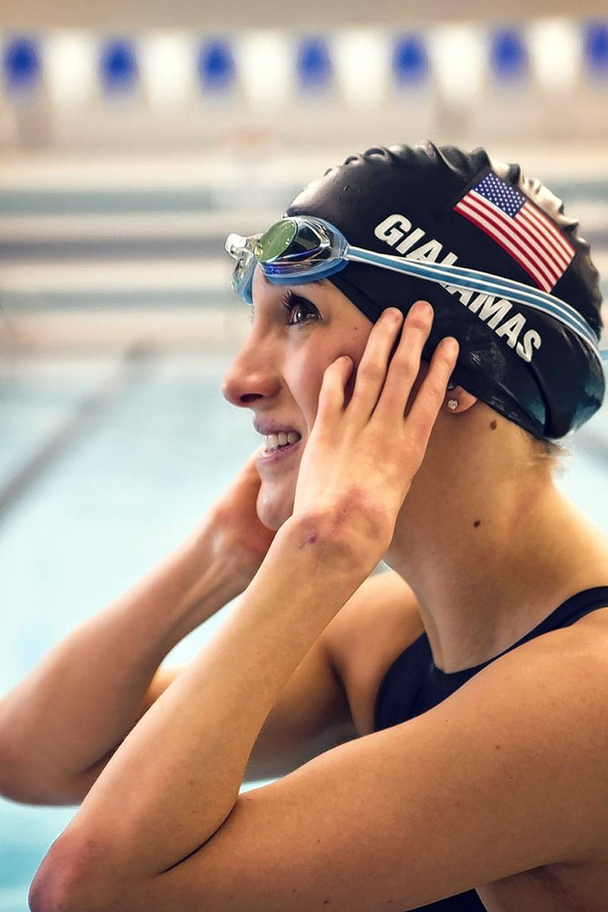 Alyssa Gialamas, 21, of Naperville, is competing in four events in the U.S. Paralympic Swimming Trials, hoping to secure a spot on the team to compete in the Rio Paralympic Games.