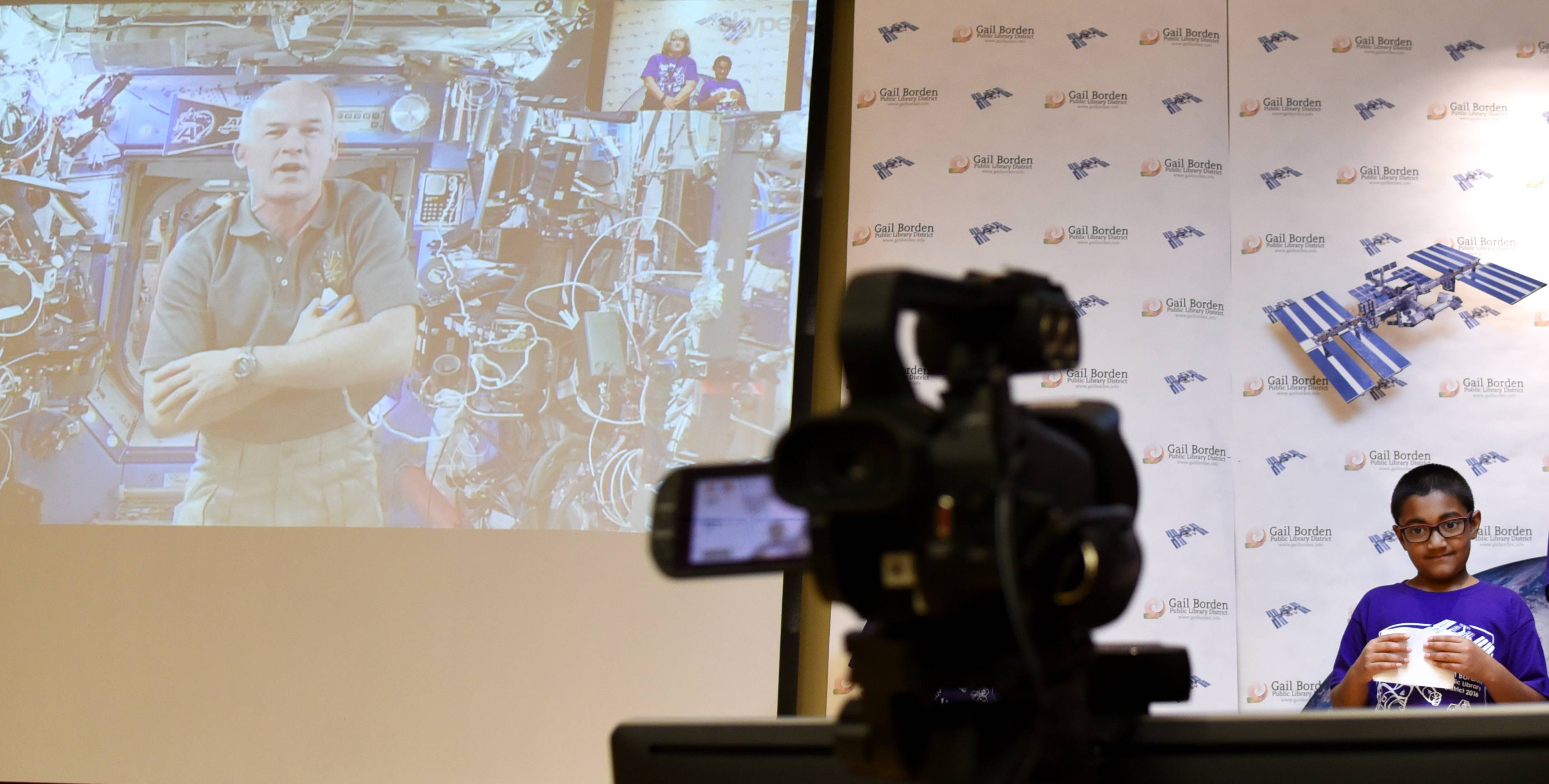 Elgin-area students video chat with astronaut on space station