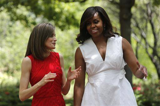 US first lady urges Spanish women to promote girls' learning