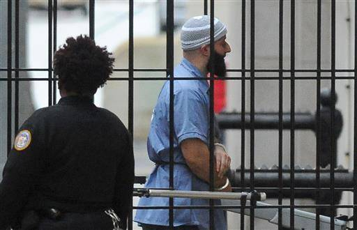 "FILE - In a Wednesday, Feb. 3, 2016 file photo, Adnan Syed enters Courthouse East in Baltimore prior to a hearing. The hearing, scheduled to last three days before Baltimore Circuit Judge Martin Welch, is meant to determine whether Syed's conviction will be overturned and case retried. After spending 16 years in prison, Syed, convicted of murder, who was at the center of the podcast ""Serial"" has won a new trial in Baltimore. Baltimore Circuit Judge Martin Welch ruled Thursday, June 30, 2016, that Syed deserves another trial because his attorney failed to cross-examine a cell tower expert about the reliability of data. (Barbara Haddock Taylor/The Baltimore Sun via AP, File) WASHINGTON EXAMINER OUT; MANDATORY CREDIT /The Baltimore Sun via AP) WASHINGTON EXAMINER OUT; MANDATORY CREDIT"