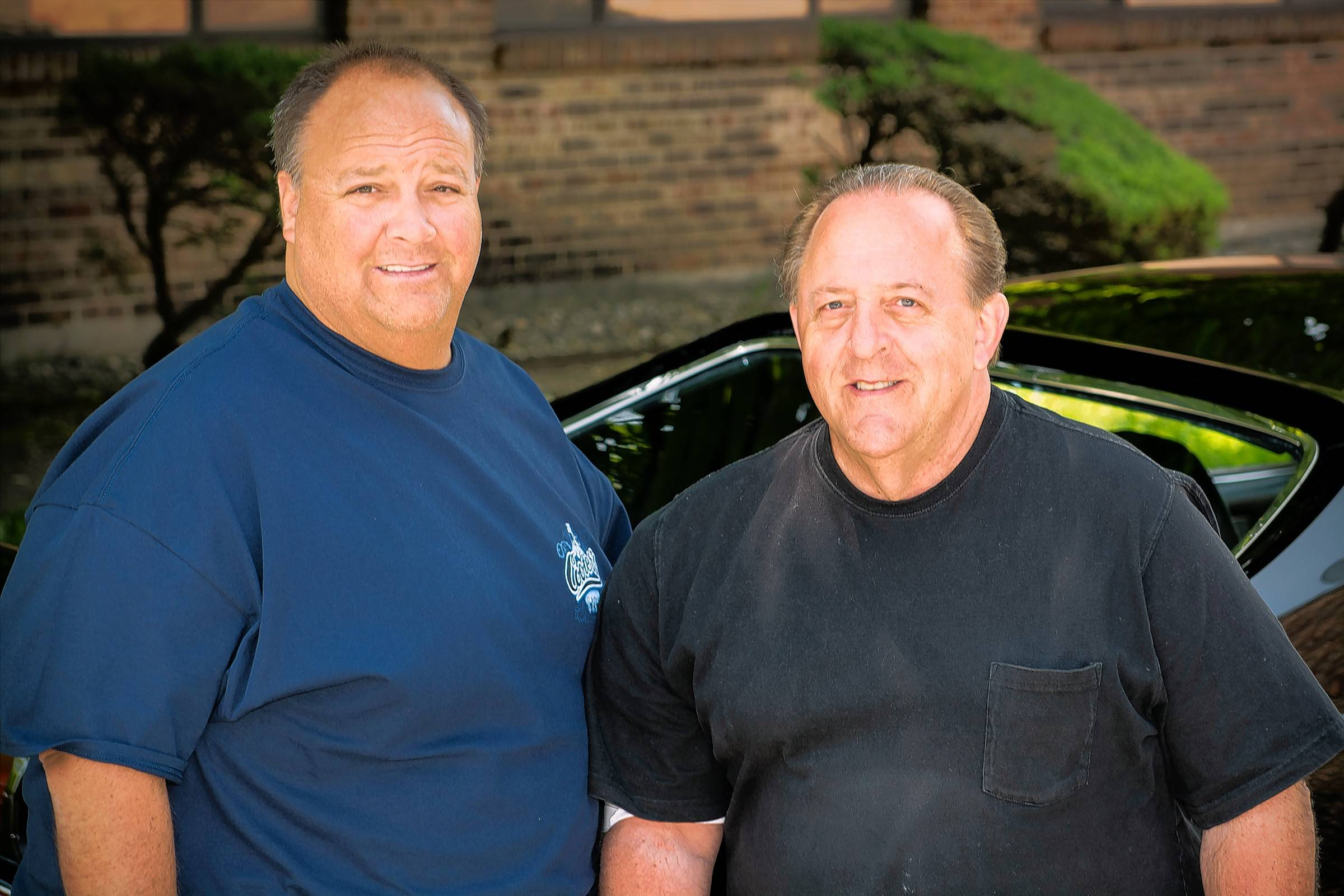 David Schmadebeck and his father, Dave, have enjoyed restoring cars through the years.