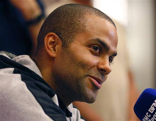 NBA player Tony Parker of San Antonio Spurs and playing for France talks to the media on the eve of the FIBA Olympics Qualifying matches Monday, July 4, 2016 in suburban Pasay city south of Manila, Philippines. France is to play against the Philippines in Tuesday's opening match. Group A is composed of Turkey, Canada and Senegal while Group B composes France, Philippines and New Zealand.