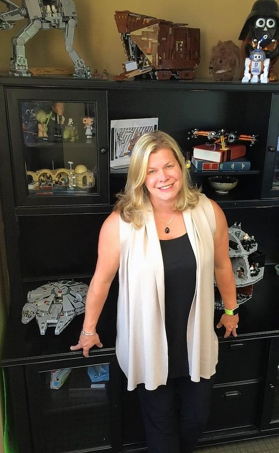Susan Dawson, an attorney with Waltz Palmer & Dawson LLC in Rolling Meadows, has been working as an attorney to represent businesses. But when she needs to relieve stress, she reaches for Legos. Her office has several of her completed sets.