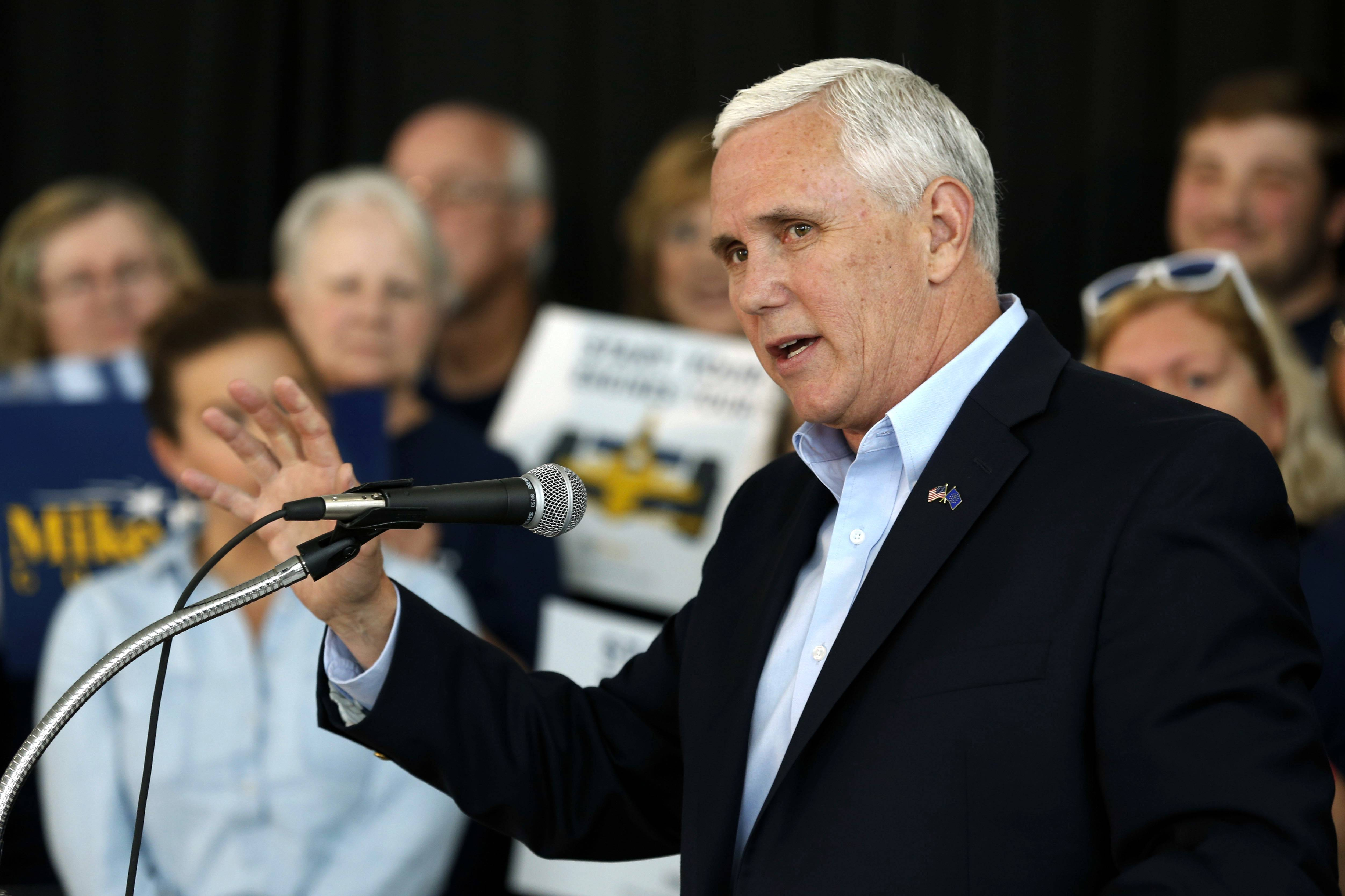 Indiana Gov. Mike Pence launched his campaign for re-election during an event May 11 in Indianapolis.