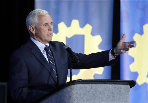 Indiana Gov. Mike Pence speaks during the Innovation Showcase, Thursday, July 14, 2016, in Indianapolis. Donald Trump has chosen Pence as his running mate, adding political experience and conservative bona fides to his Republican presidential ticket.