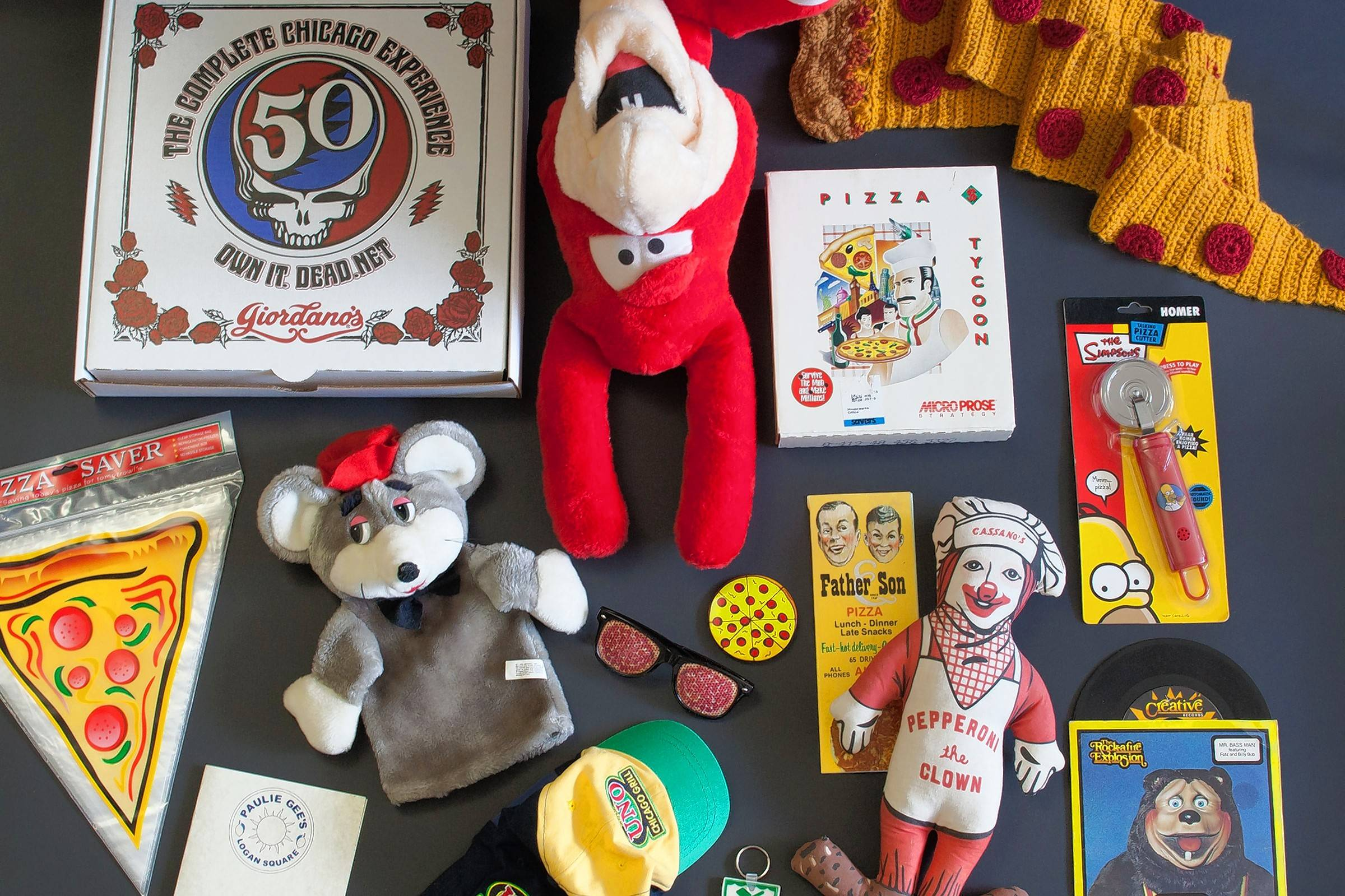 See kitschy items from the U.S. Pizza Museum at the Whistler Storefront Gallery in Chicago's Logan Square from Monday, July 18, through Sept. 18.