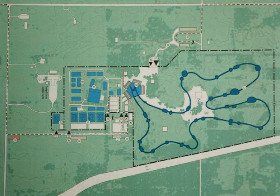 This map shows how Tempel Farms in Wadsworth would have been designed to accommodate the equestrian events for the 2016 Olympics, had Chicago been chosen as the host city.