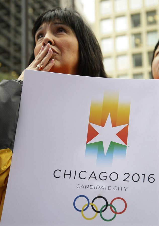 Crowds were shocked when the International Olympic Committee announced Chicago was being eliminated as a site for the 2016 Summer Olympic Games.