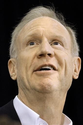 FILE - In this June 21, 2016 file photo, Illinois Gov. Bruce Rauner participates in the Springfield Chamber of Commerce Annual Small Business Awards in Springfield, Ill. Many of Illinois' top Republican officials plan to sit out the GOP national convention in Cleveland, including Rauner.