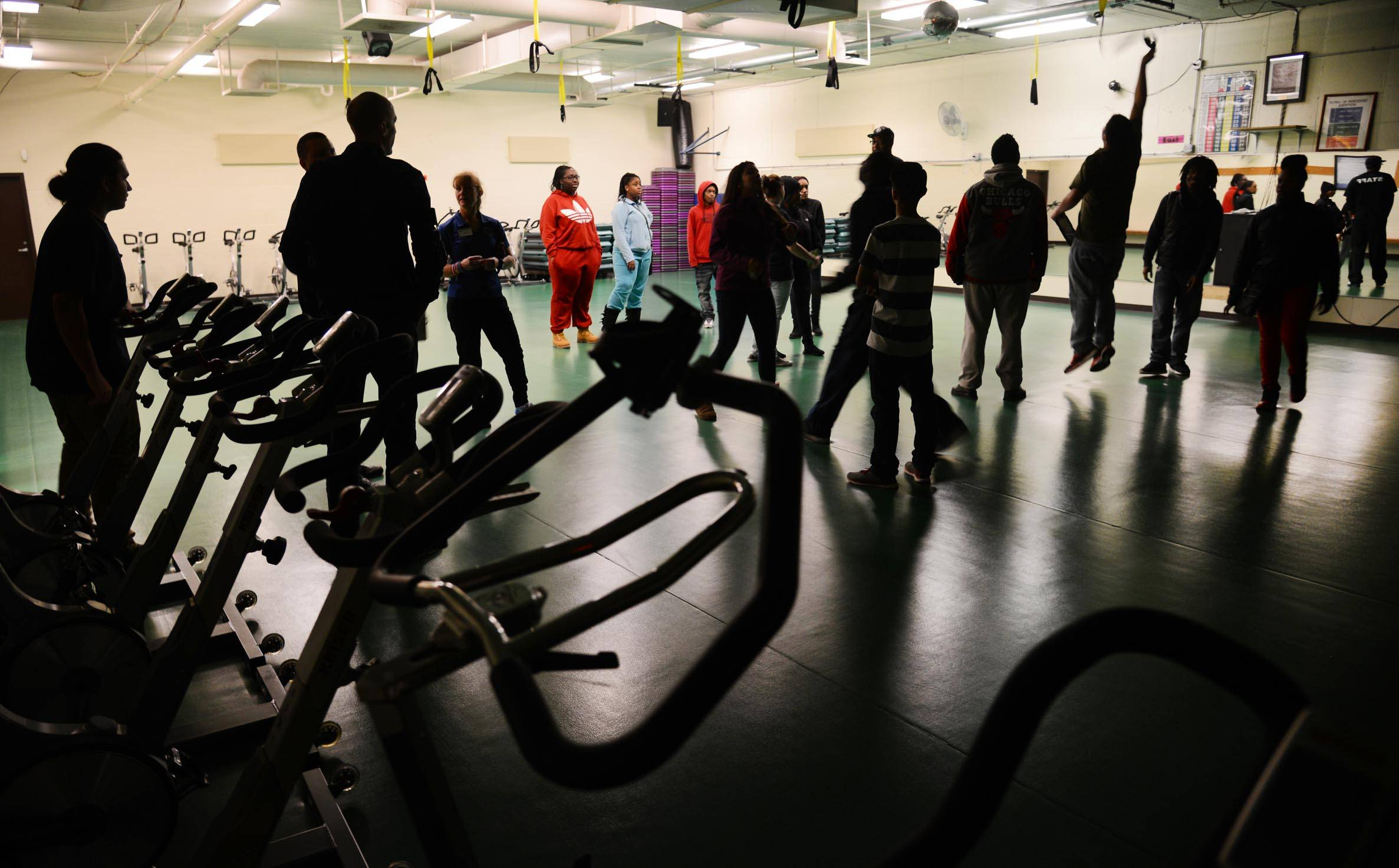 Students check out a fitness room at the Rakow Fitness Center, which is part of the Boys and Girls Clubs of Dundee Township Teen Center. With the creation of a new donor society, organization leaders hope to raise enough money to fund operating costs at one of eight sites for an entire year.