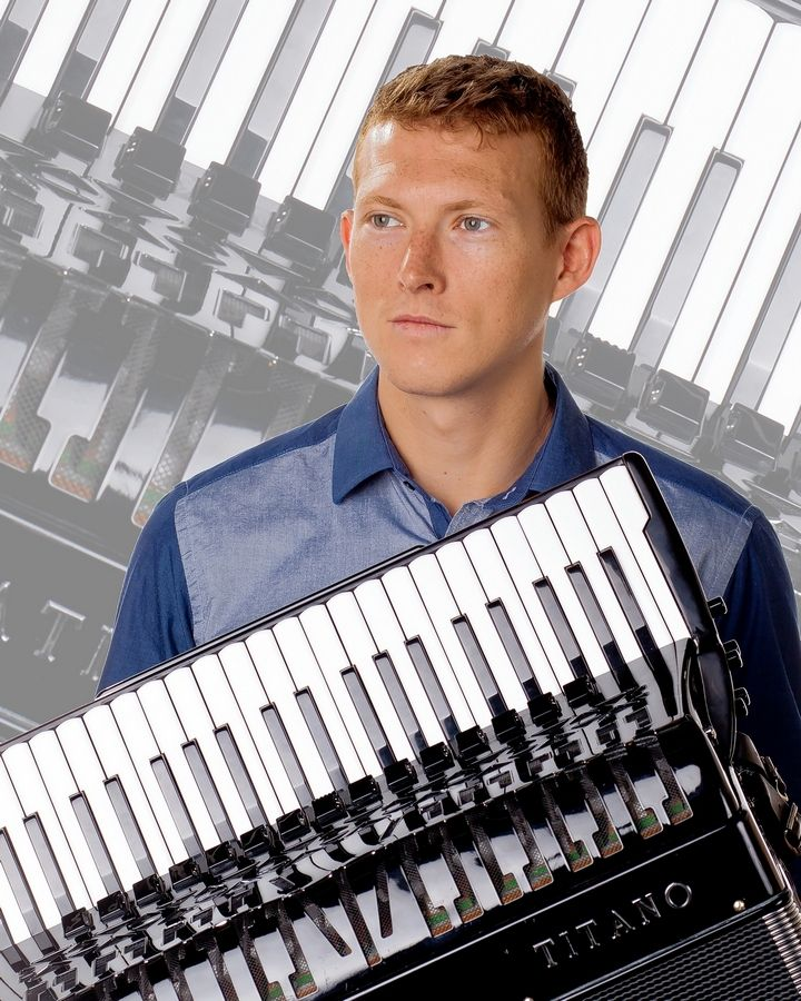 World champion accordionist Grayson Masefield performs concerts at 7:30 p.m. Friday and Saturday during the accordion festival at the Hyatt Regency Lisle.