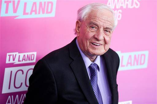 "FILE - In this April 10, 2016 file photo, Garry Marshall arrives at the 2016 TV Land Icon Awards at Barker Hangar in Santa Monica, Calif. Writer-director Marshall, whose TV hits included ""Happy Days"" ""Laverne & Shirley"" and box-office successes included ""Pretty Woman"" and ""Runaway Bride,"" has died at age 81. Publicist Michelle Bega says Marshall died Tuesday, July 19, 2016, in at a hospital in Burbank, Calif., of complications from pneumonia after having a stroke. (Photo by Rich Fury/Invision/AP, File)"