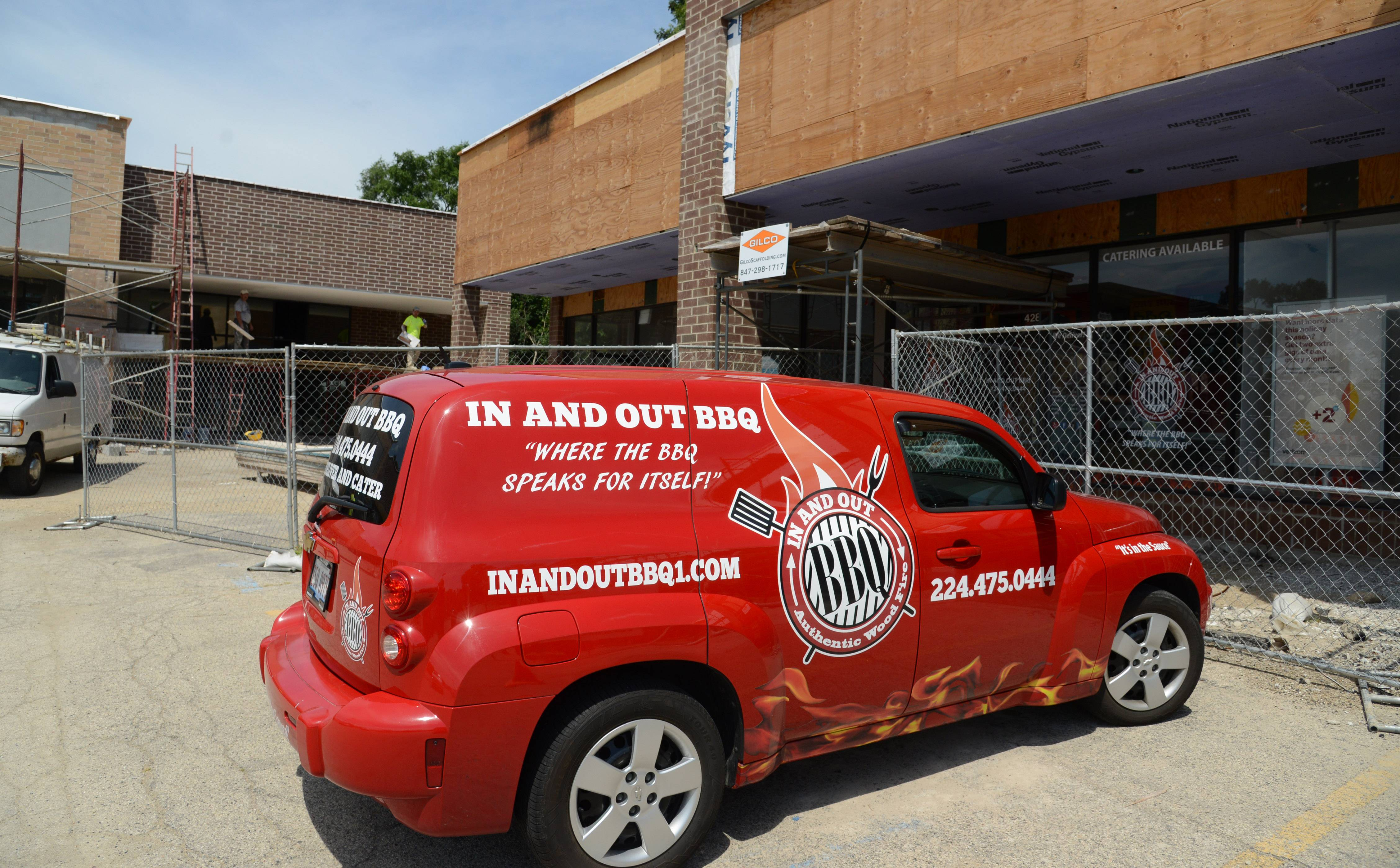 The owner of In and Out BBQ in Mundelein plans to hold a grand opening once construction is complete at Hawley Lake Plaza.
