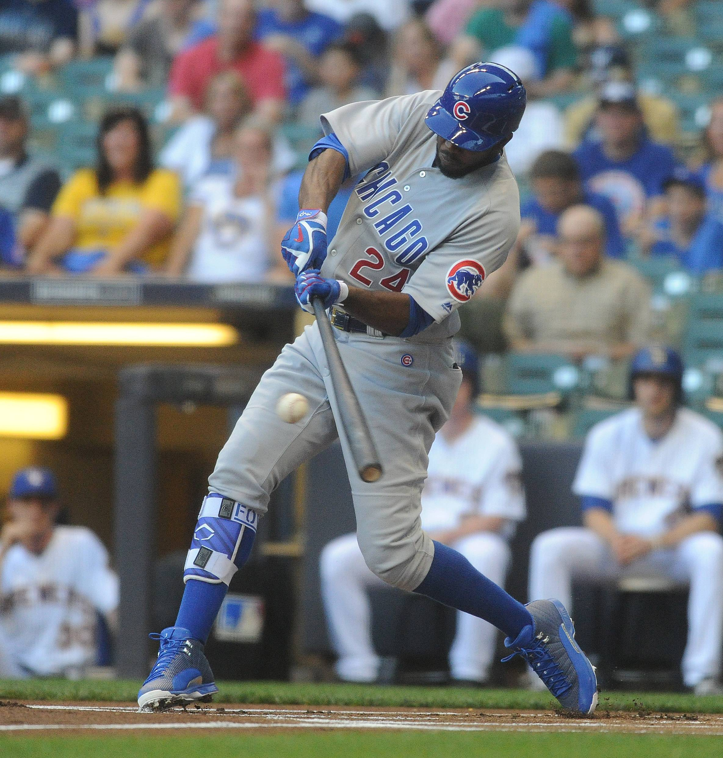 Mark Welsh/mwelsh@dailyherald.com Dexter Fowler made it a smashing return, hitting a leadoff homer and adding a 2-run double as the Cubs beat the Milwaukee Brewers 5-2 at Miller Park.