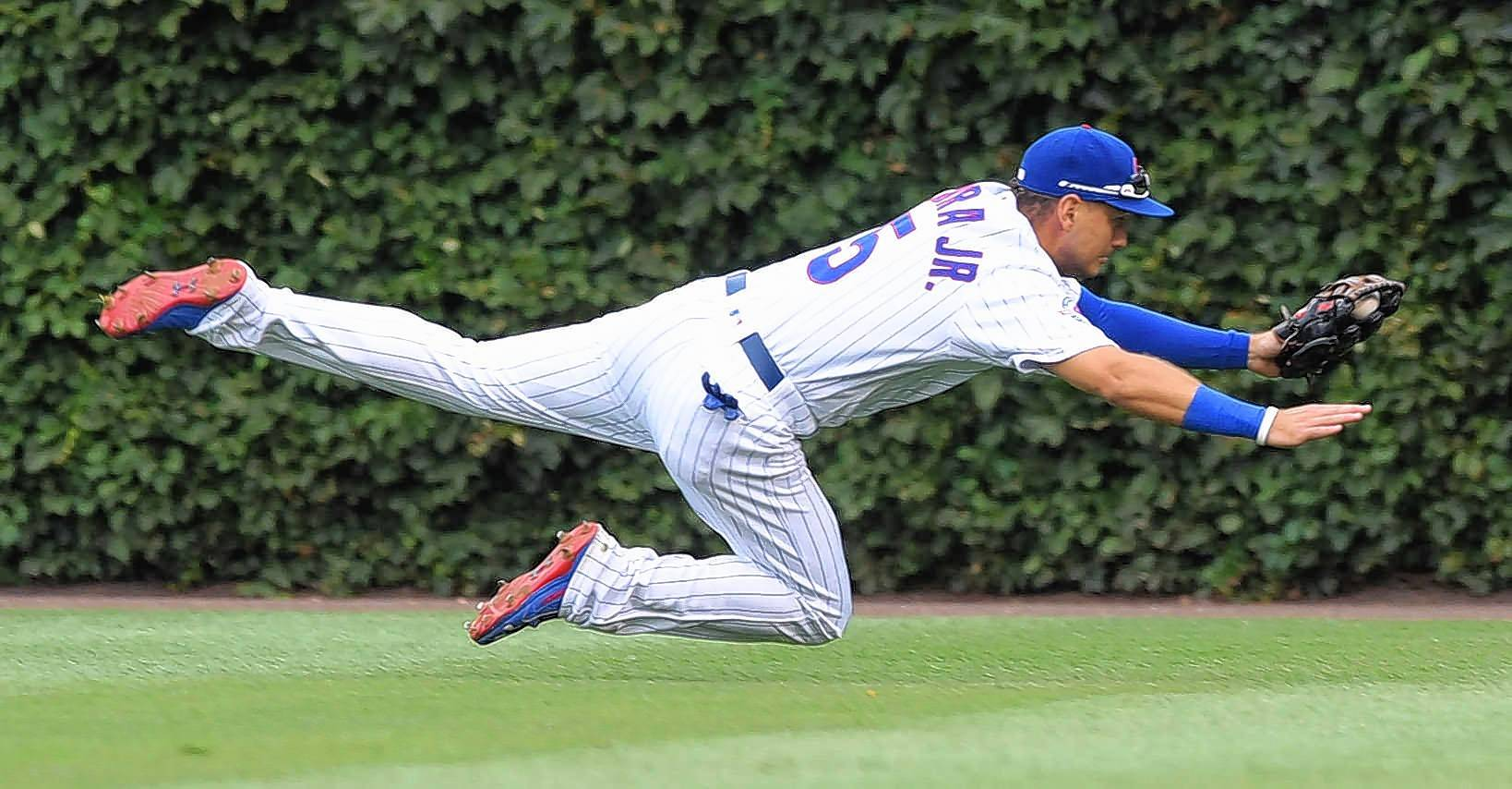 Even though he did a good job after his first big-league call-up, Chicago Cubs outfielder Albert Almora was back on his way to Class AAA Iowa Friday after the team activated Dexter Fowler off the disabled list. But Almora impressed during his time with the club, especially with his defense.