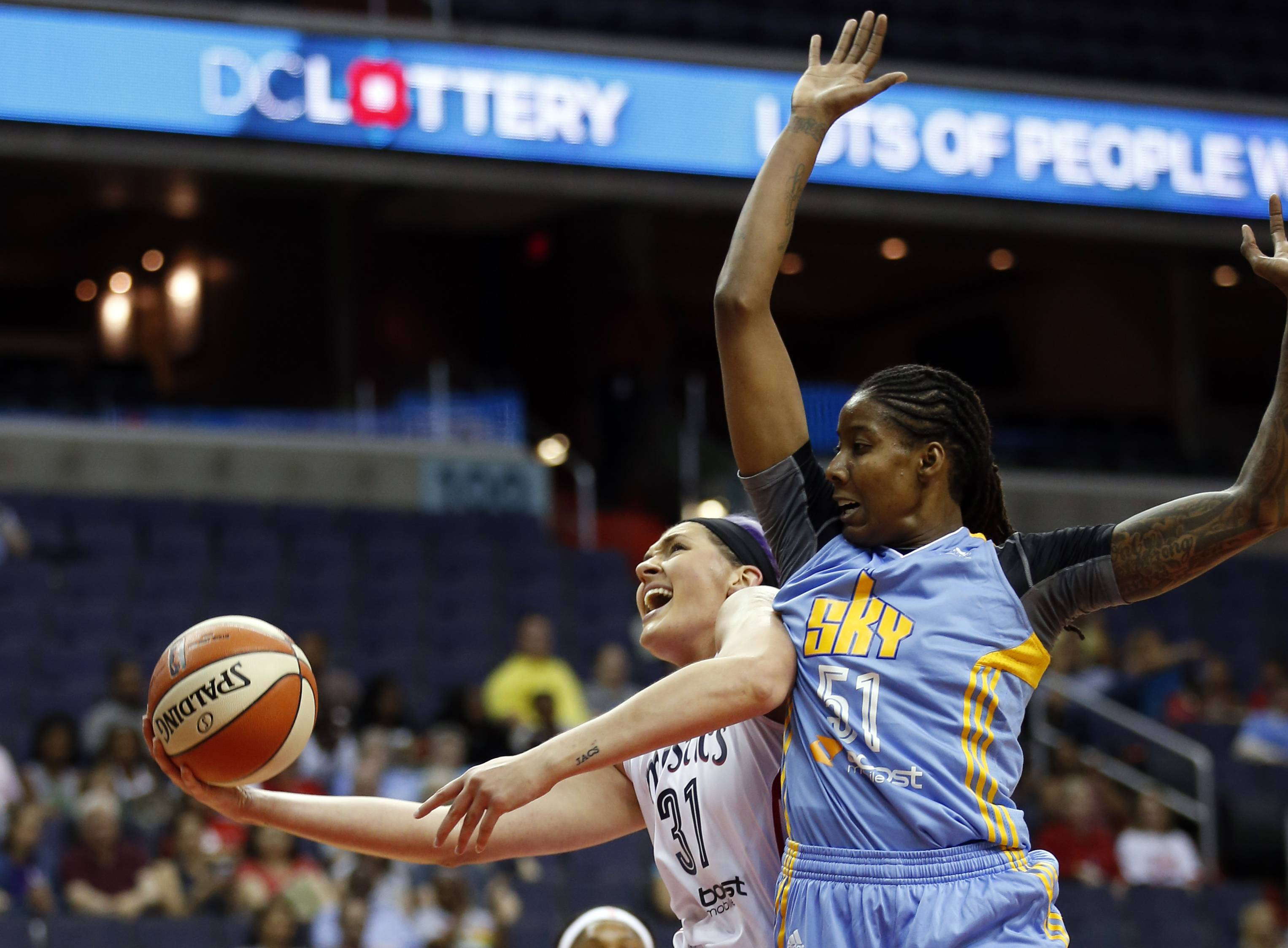 Chicago Sky forward Jessica Breland is a WNBA player who understands the league's relationship with the media.