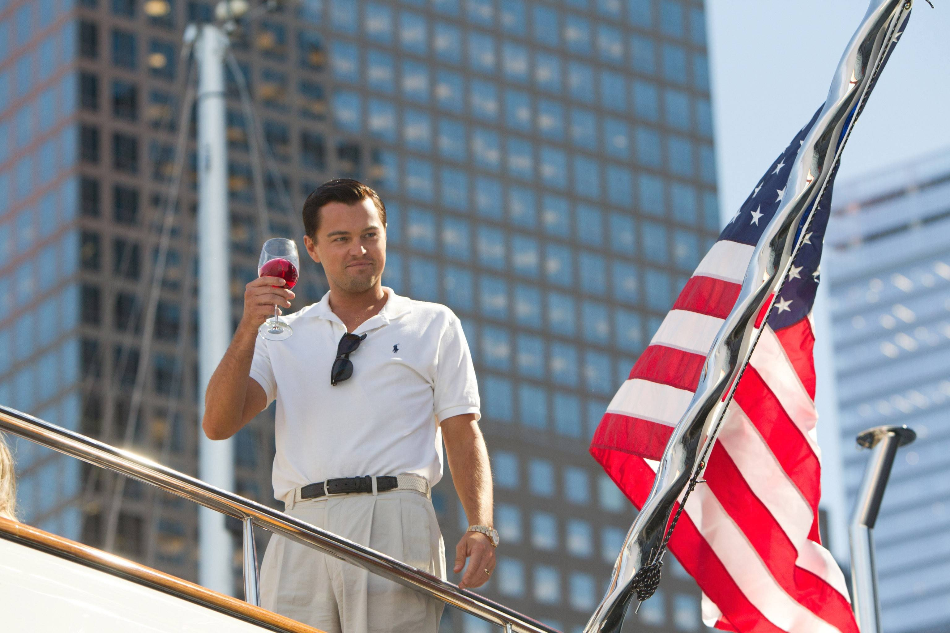 "Leonardo DiCaprio stars in ""The Wolf of Wall Street."""