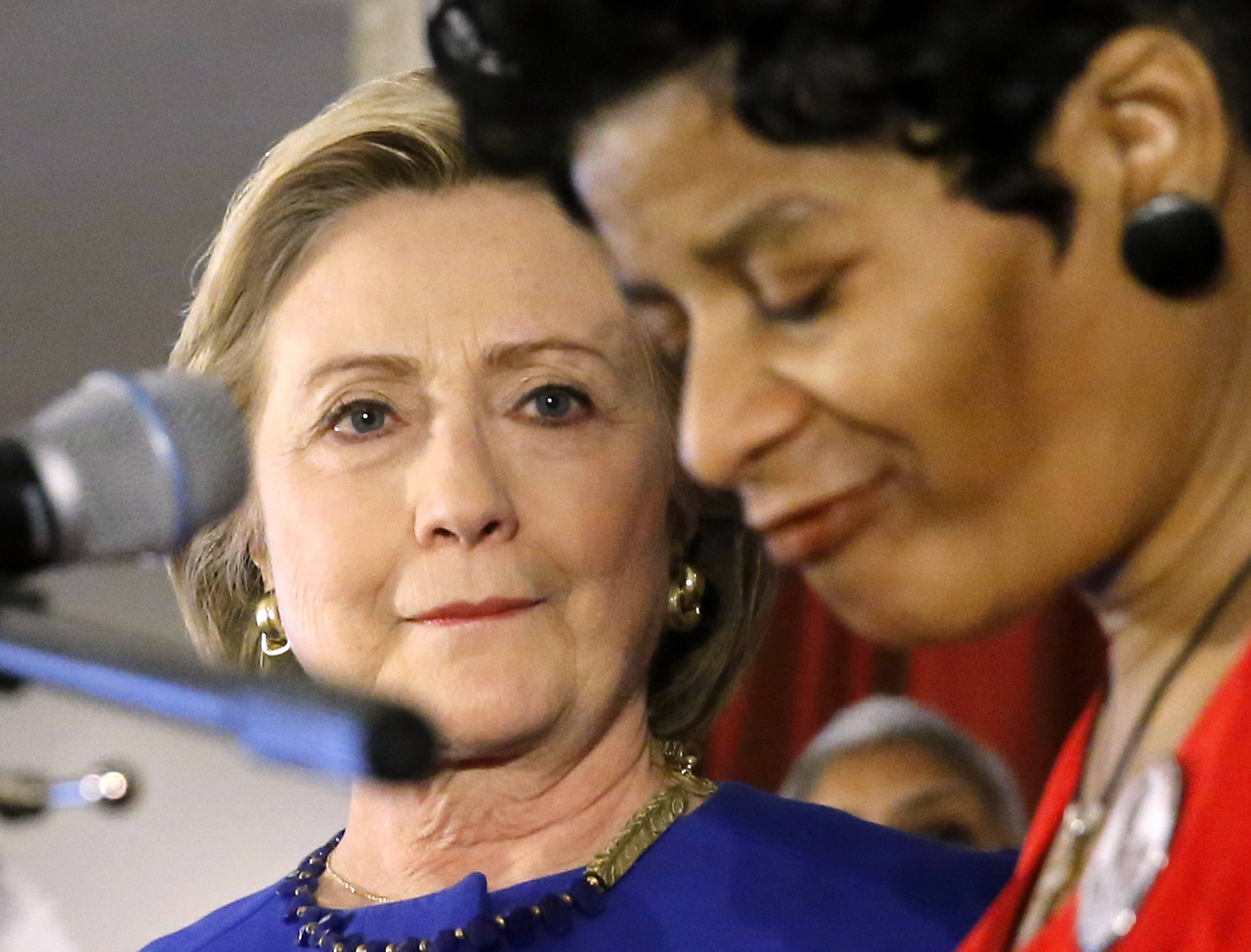 Democrat Hillary Clinton appears in February in Chicago with Geneva Reed-Veal, the mother of Sandra Bland, the former Naperville woman who was found dead in a Texas jail cell more than a year ago.