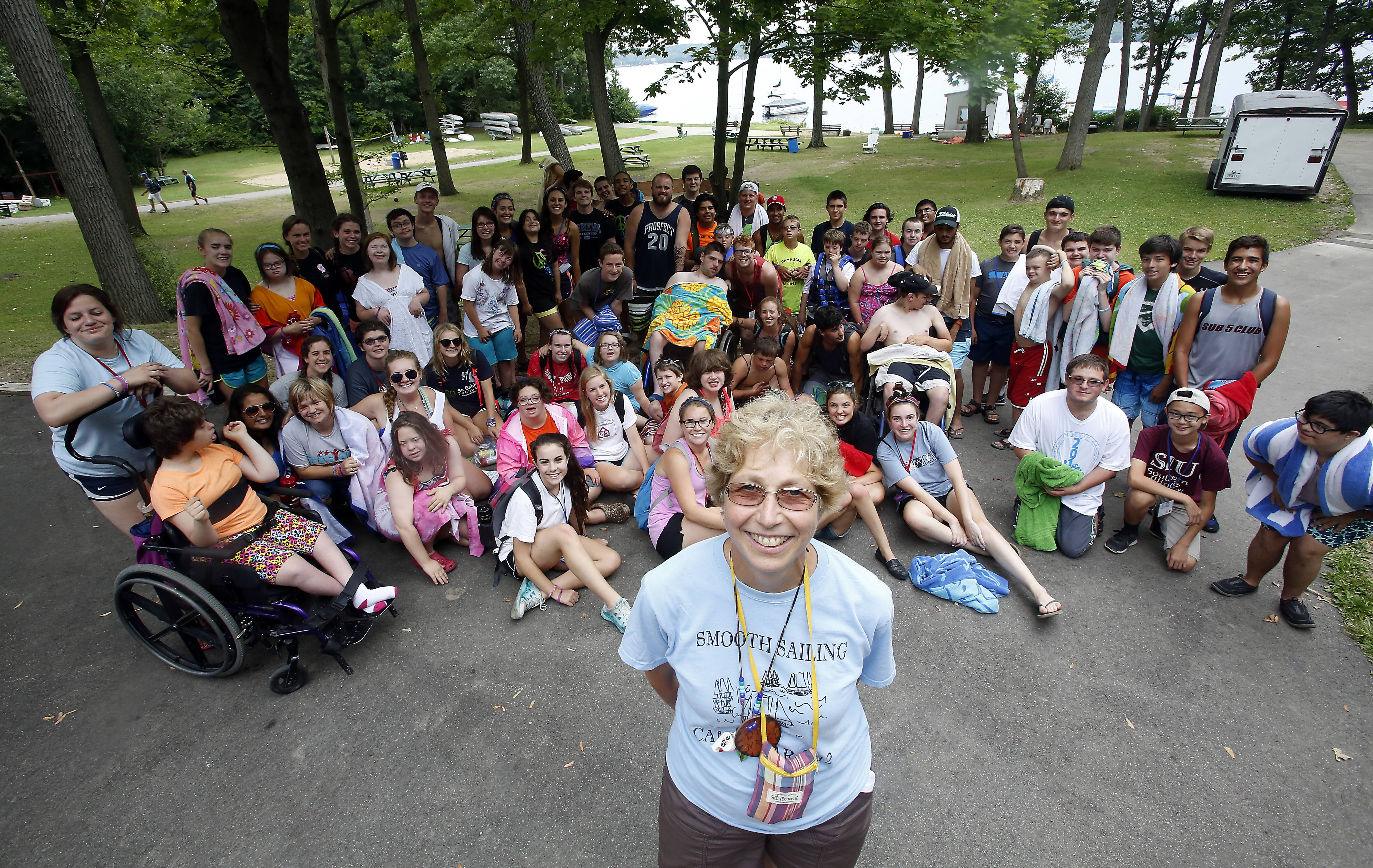 The first Camp SOAR in 2000 featured 19 young campers with disabilities. The inspiration of Dr. Nancy Keck of Prospect Heights, the camp now boasts two weeklong sessions with nearly 60 campers and 90 counselors each week.