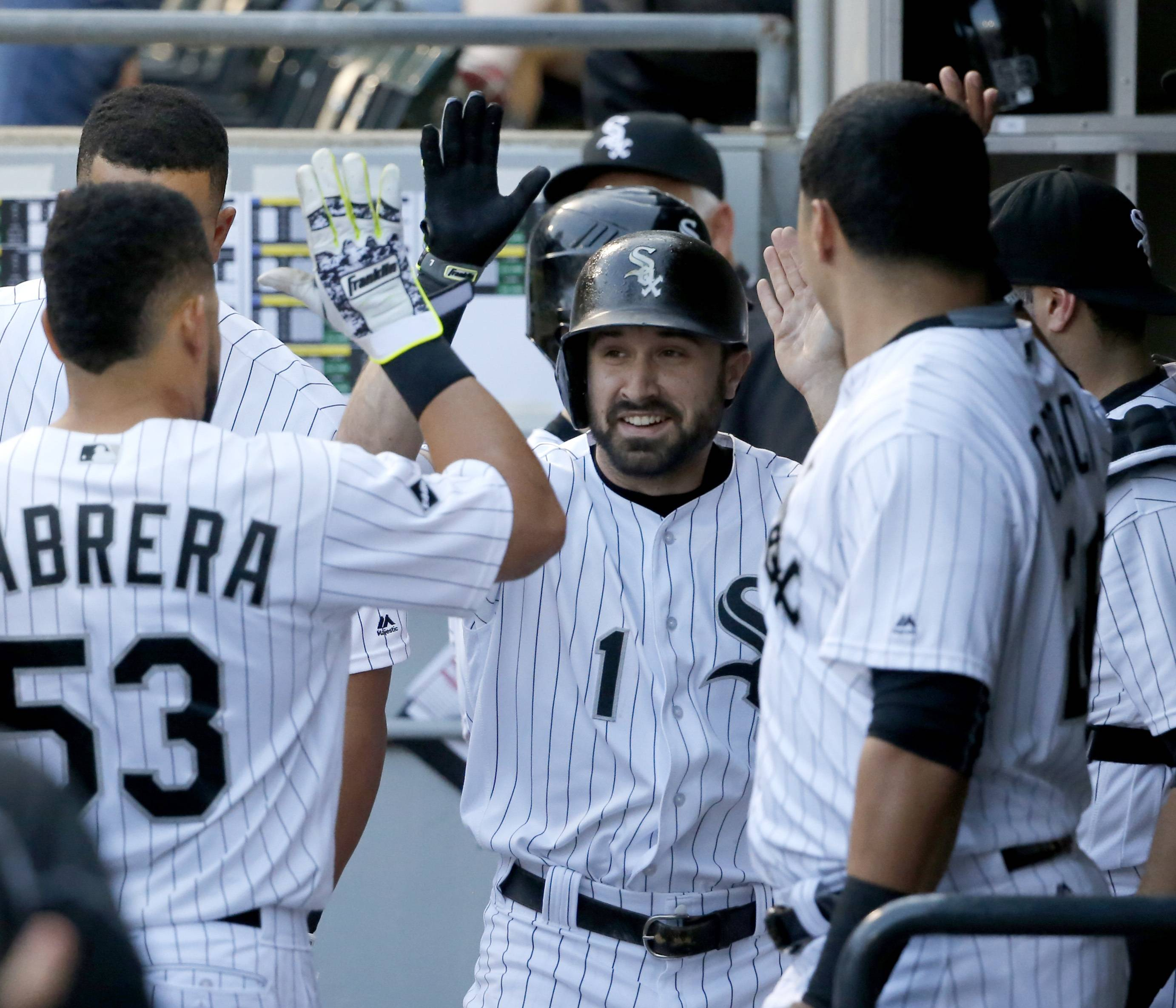 Adam Eaton's single in the ninth inning Sunday helped the White Sox beat Detroit 4-3 at U.S. Cellular Field.