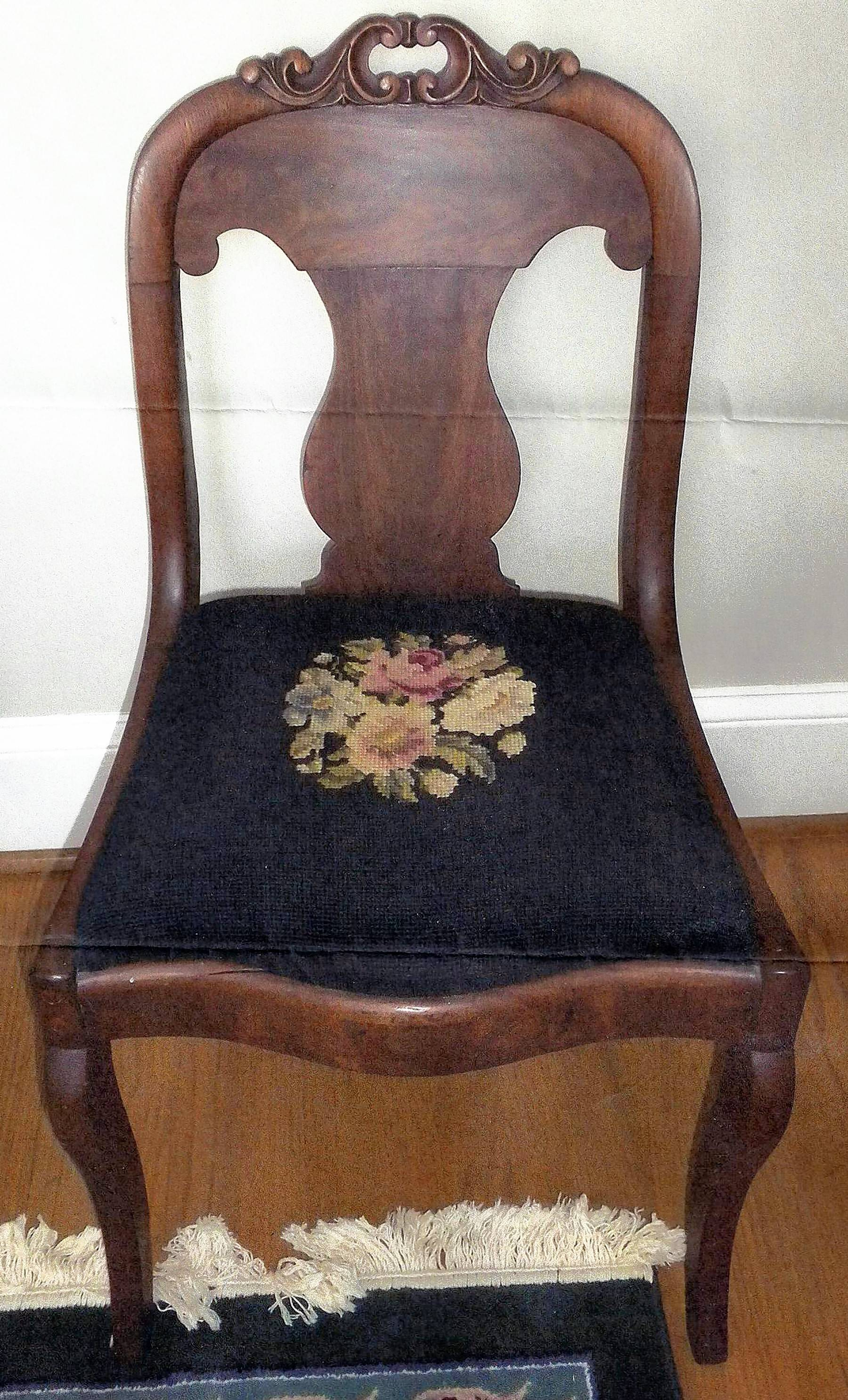 These Side Chairs Were Made Circa 1840; However The Cushions Are Not  Original.
