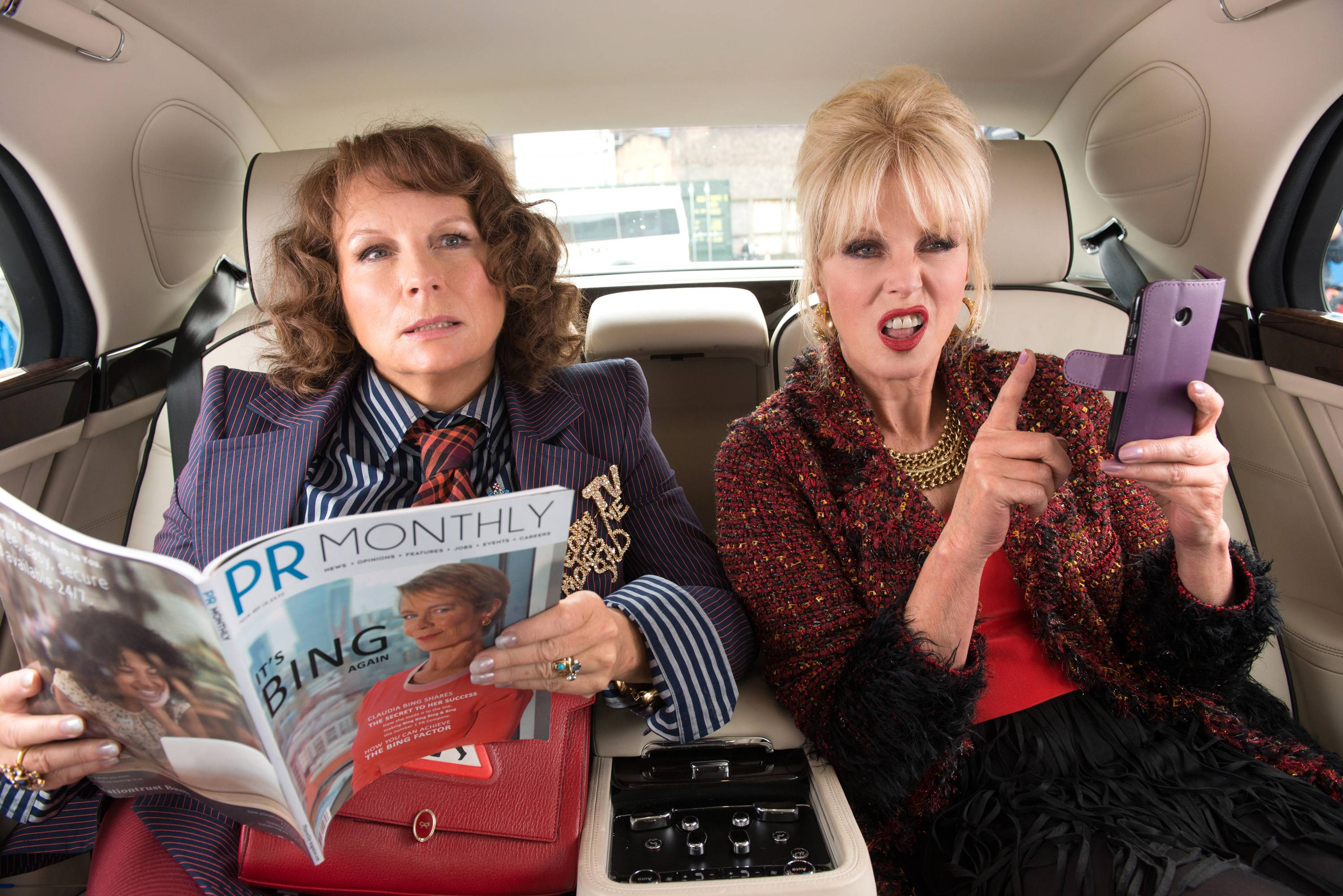 "Jennifer Saunders, left, and Joanna Lumley are back, 24 years after the TV show, in ""Absolutely Fabulous: The Movie."""