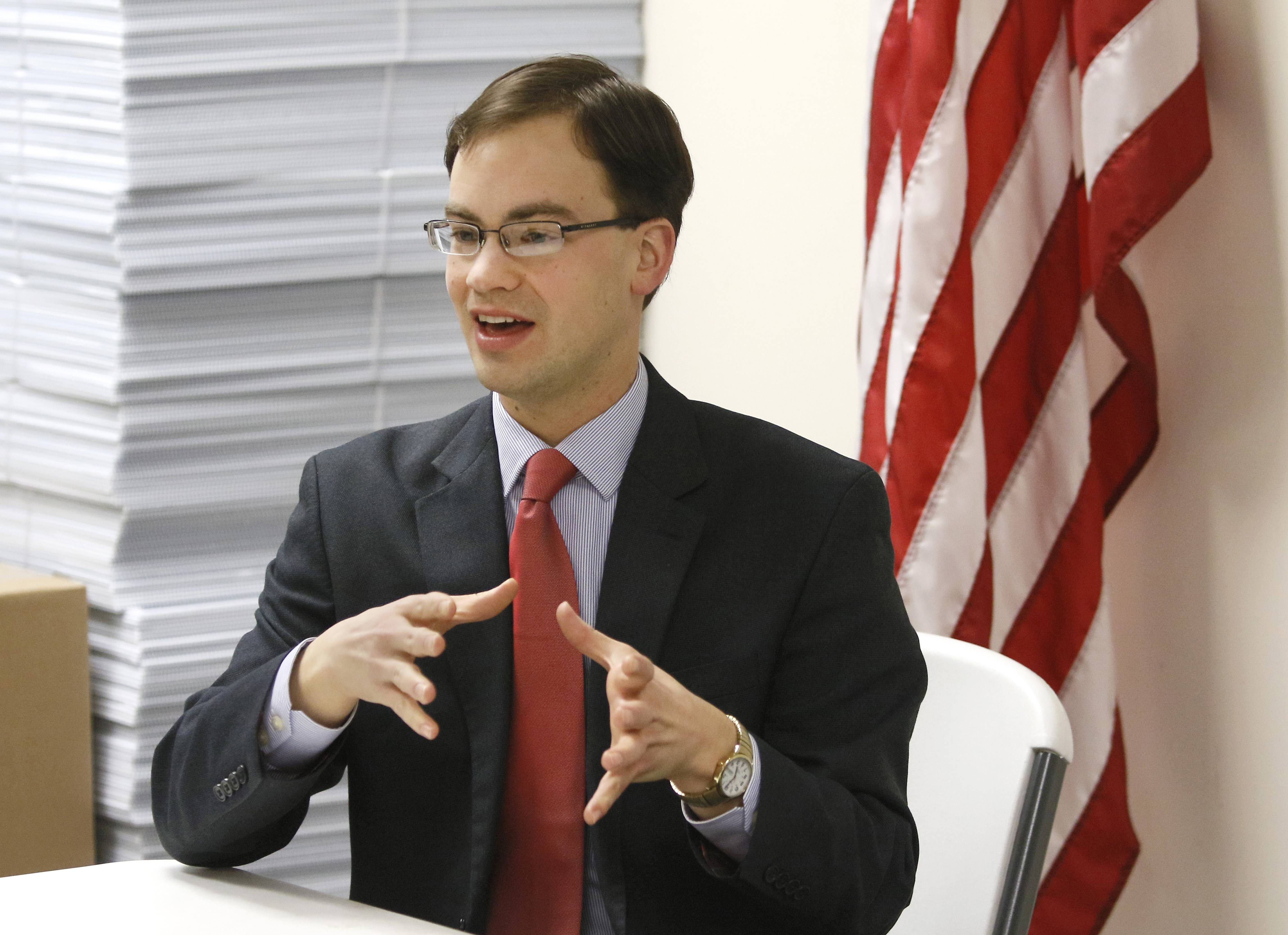David Olsen, 27, of Downers Grove is the front-runner to fill the 81st state House District vacancy created by the resignation of Ron Sandack, Republican leaders say.