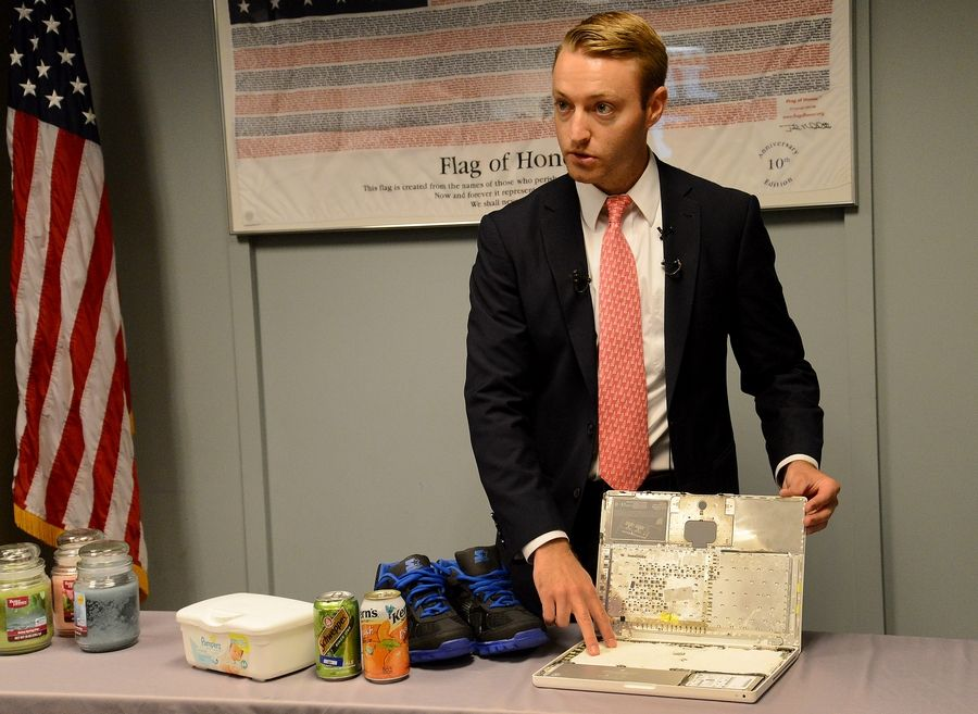 TSA spokesman Michael McCarthy demystifies airport security protocols. A laptop, for example, can contain explosives.