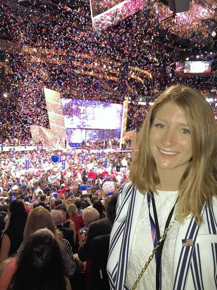 Today's snap: Here's former state Rep. Al Salvi's 23-year-old daughter, Mary, on the last night of the Republican National Convention in Cleveland. Mary Salvi, who grew up in Mundelein, spent the summer working as an executive assistant to the RNC's platform committee before starting law school in the fall.