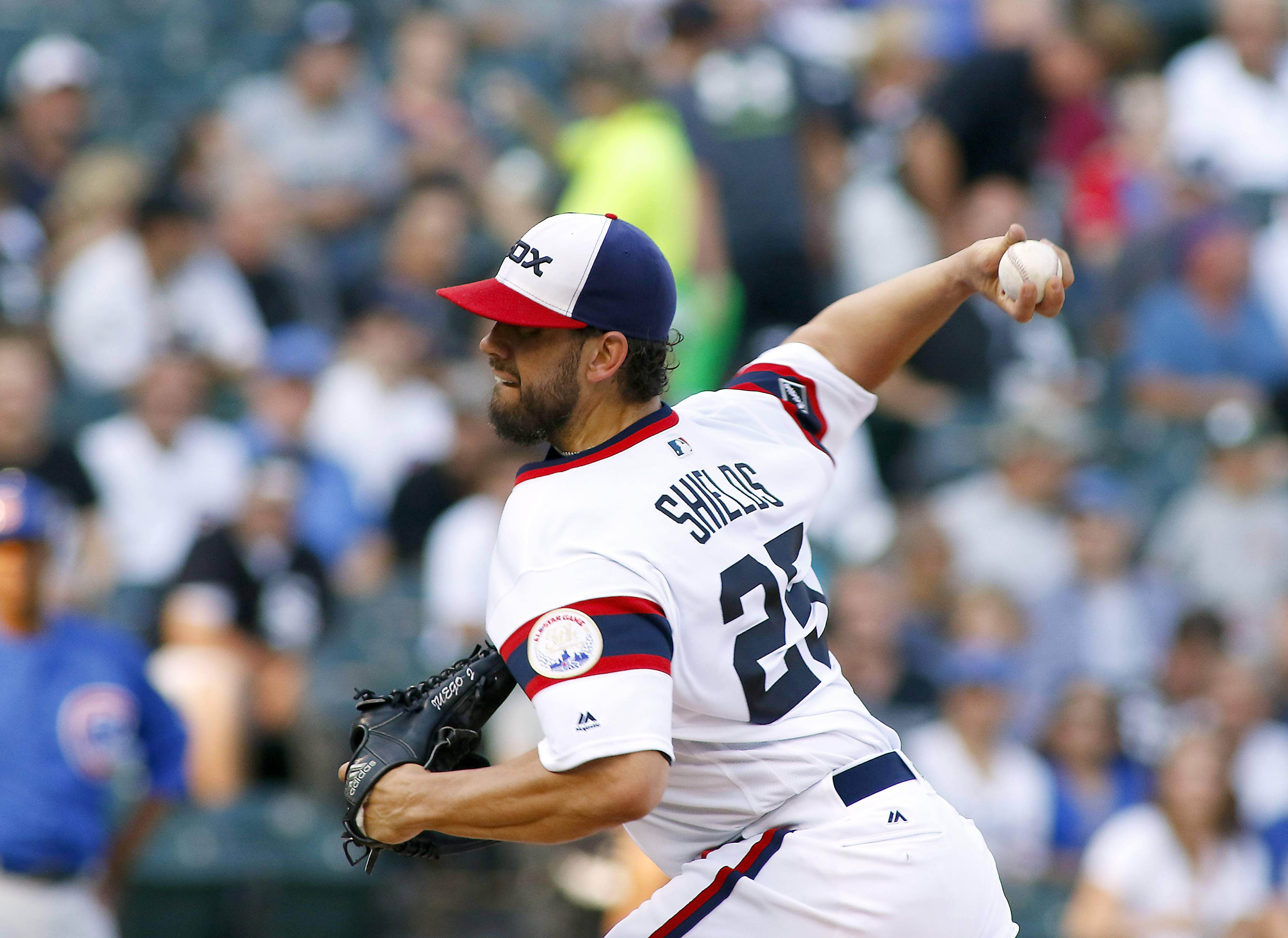 Brian Hill/bhill@dailyherald.comChicago White Sox starting pitcher James Shields (25) in Game 2 of their Crosstown Cup series at U.S. Cellular field on Tuesday, July 26.