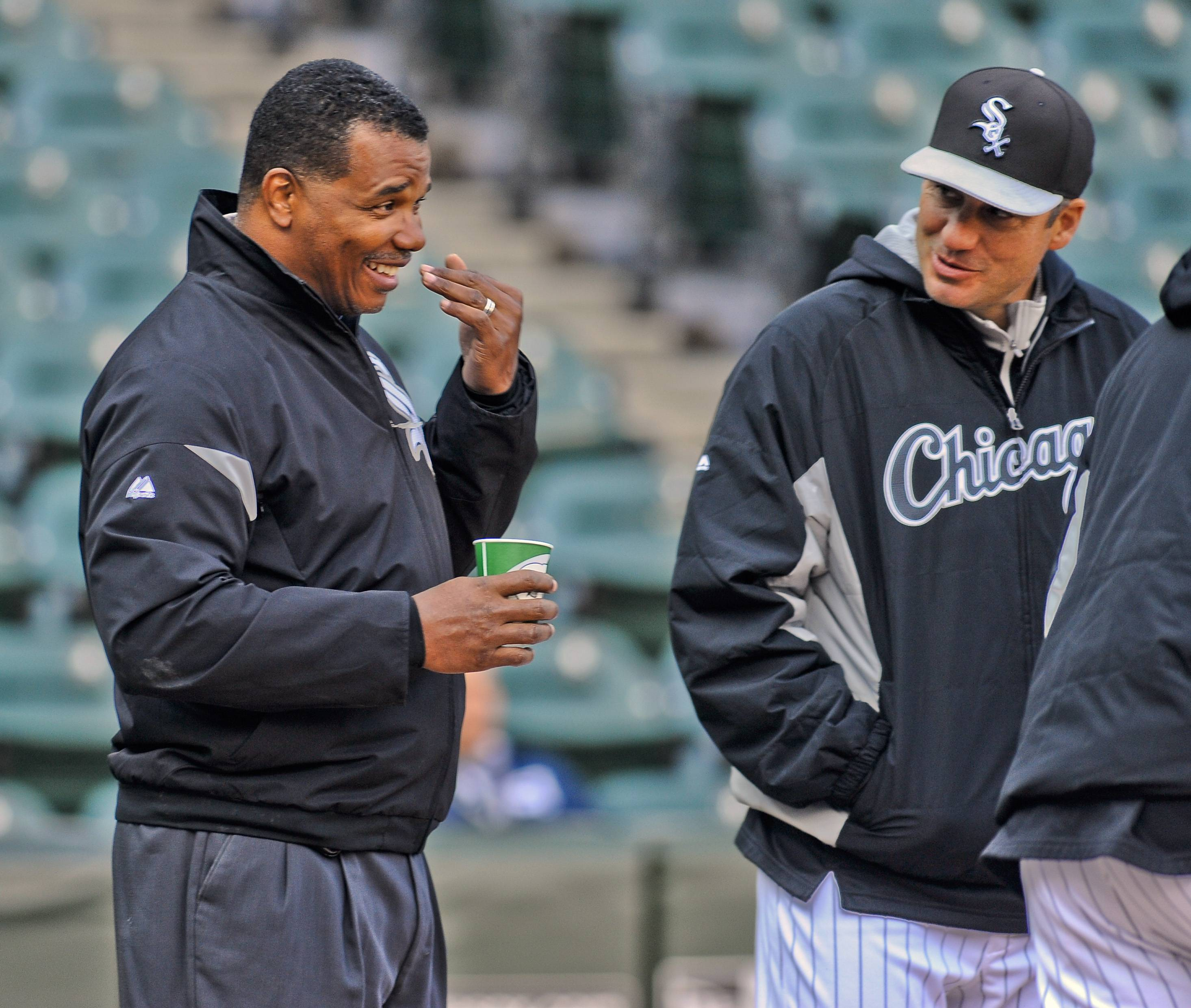 Chicago White Sox vice president Kenny Williams, left, was in full agreement with how manager Robin Ventura, right, and general manager Rick Hahn handled the Chris Sale situation over the weekend.