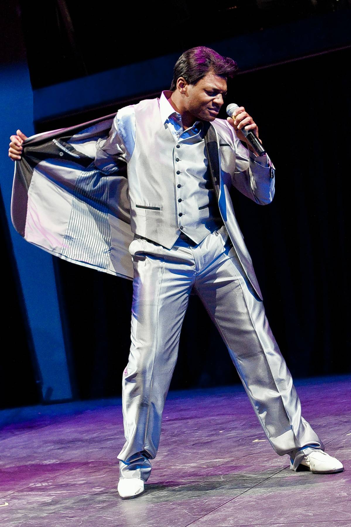 "Kelvin Roston Jr. plays soul singer Jackie Wilson in Black Ensemble Theater's revival of its hit show, ""The Jackie Wilson Story,"" as part of the company's 40th anniversary celebration."