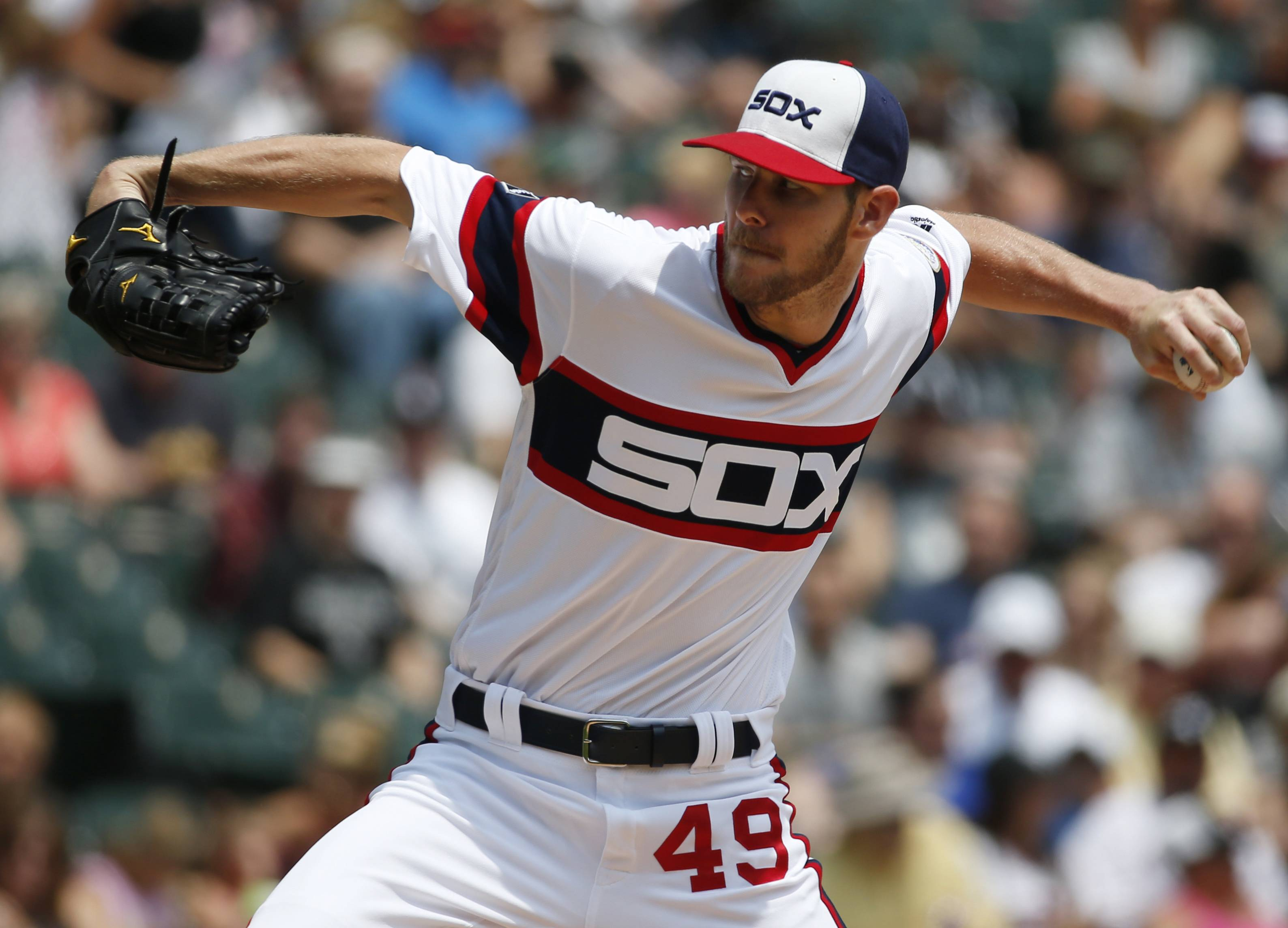 After serving a five-day suspension for destroying the 1976 throwback uniforms the Chicago White Sox were scheduled to wear against the Tigers Saturday, ace starter Chris Sale returns to pitch against the Cubs Thursday night at Wrigley Field.