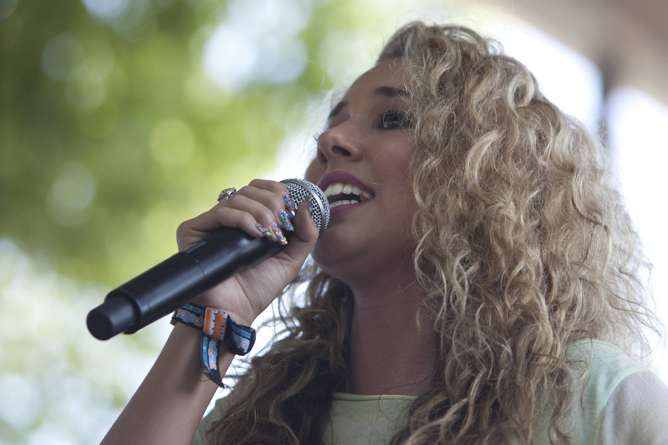 Wheeling native Haley Reinhart performs during Lollapalooza in 2012.
