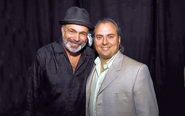 Danny Seraphine, pictured with Ron Onesti, will perform Saturday, July 30, at the Arcada Theatre in St. Charles.