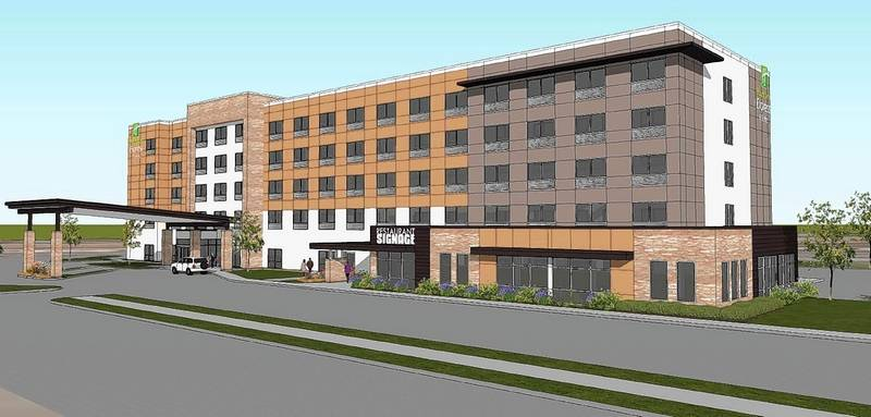 A Sketch Shows The Proposed Five Story 130 Room Holiday Inn Express