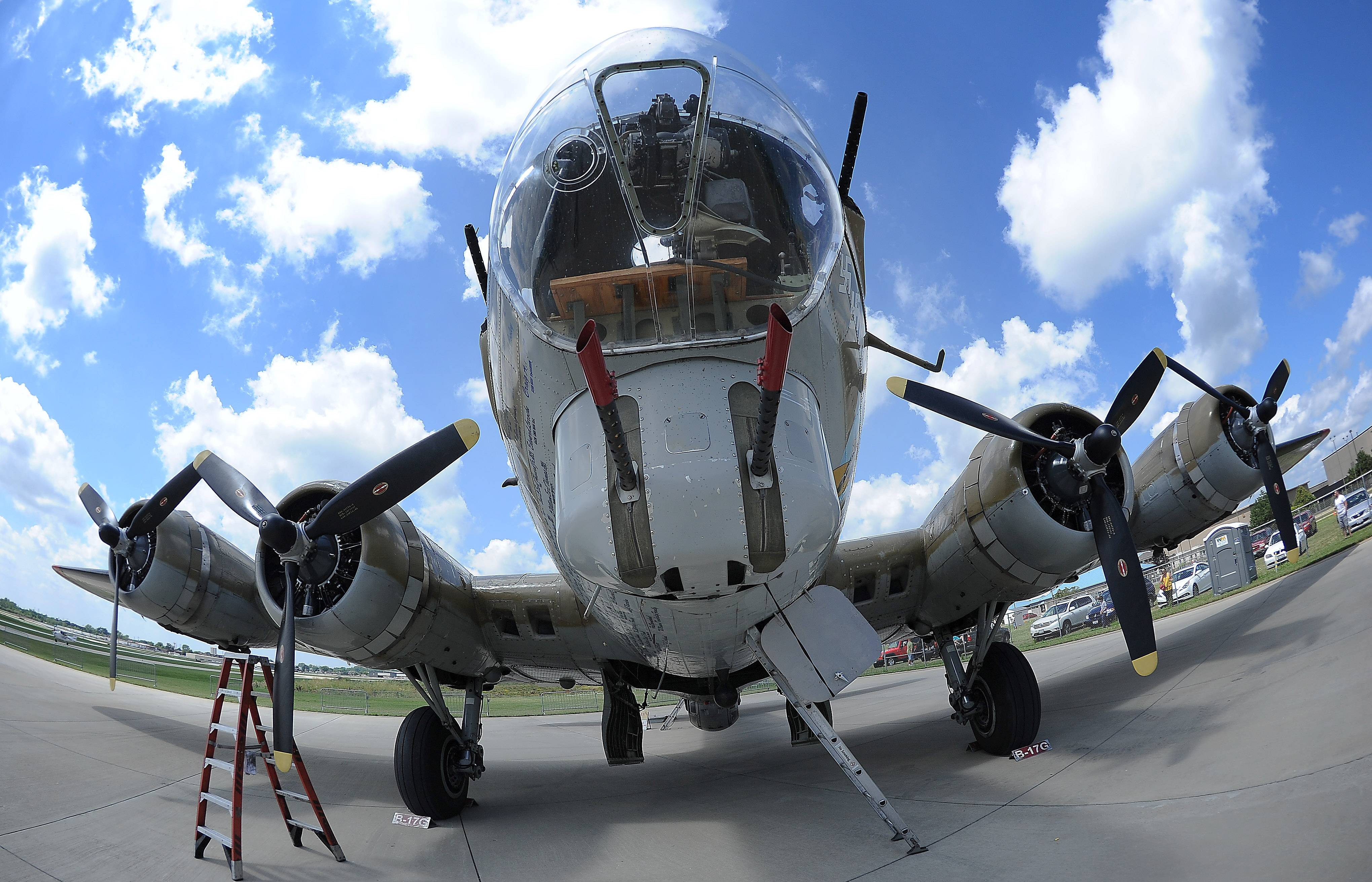 The vintage B-17 Flying Fortress stopped at Chicago Executive Airport in Wheeling on Monday.