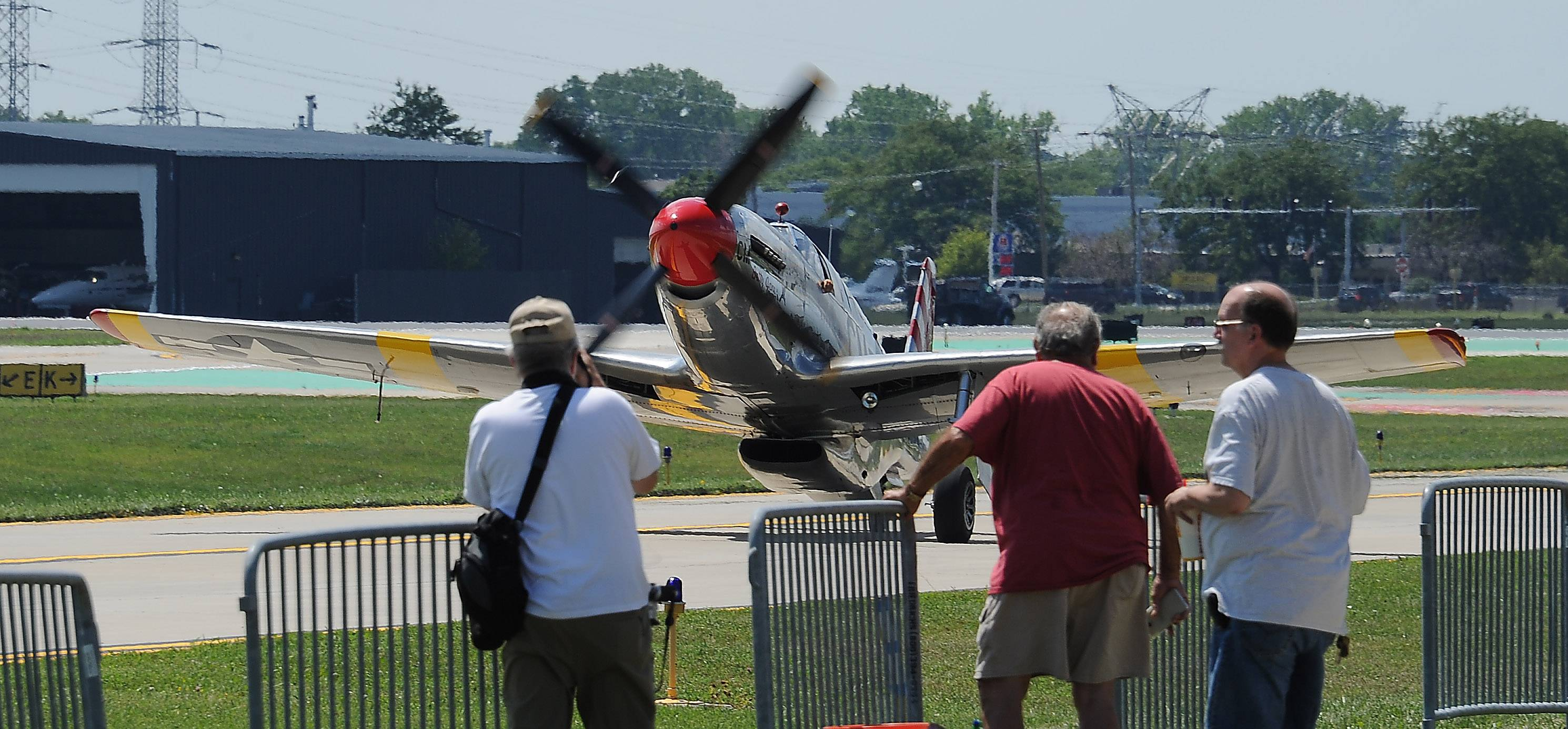 A P-51C Mustang also is part of the Wings of Freedom Tour at Chicago Executive Airport in Wheeling.